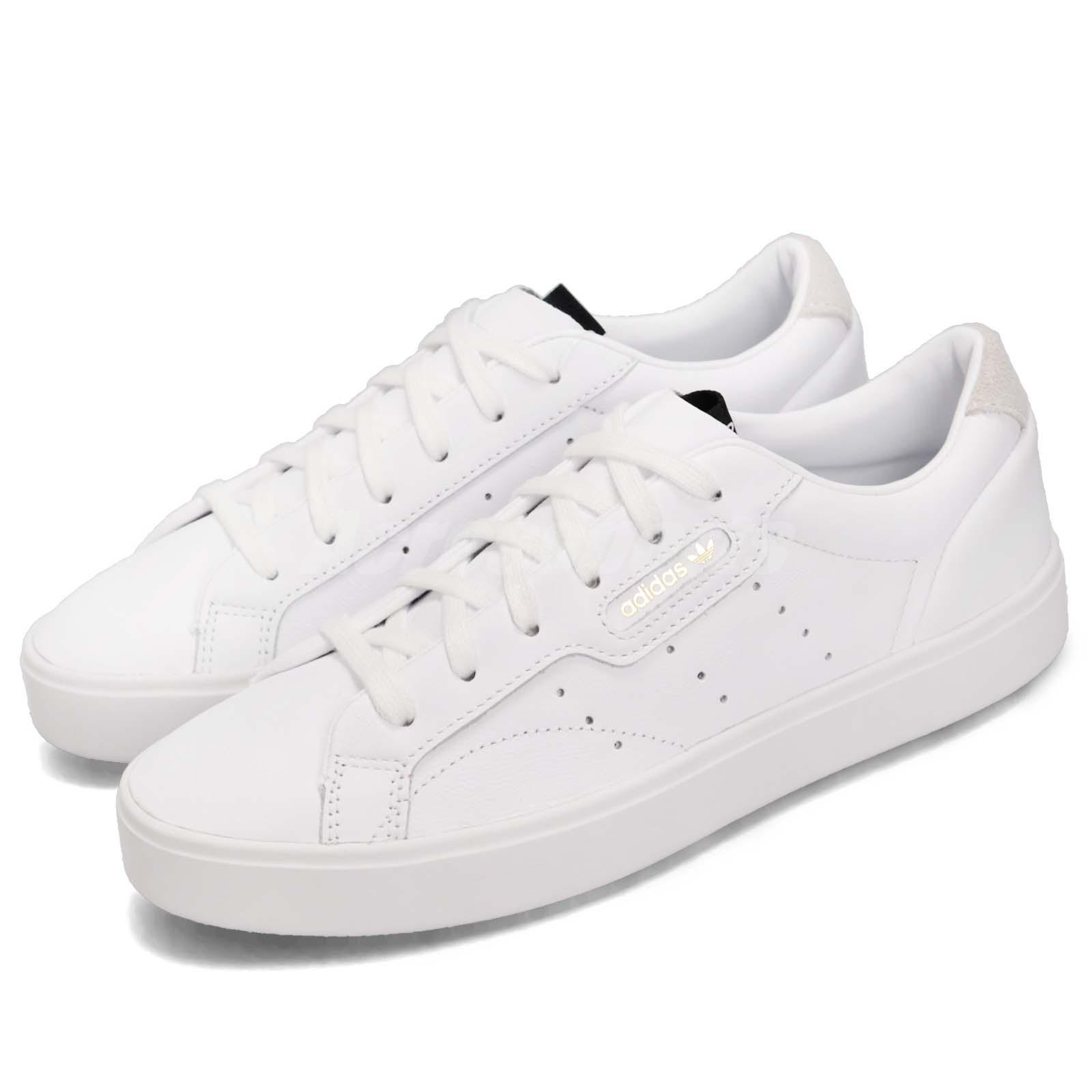 Dettagli su adidas Originals SLEEK W White Gold Women Casual Lifestyle Shoes Sneakers DB3258