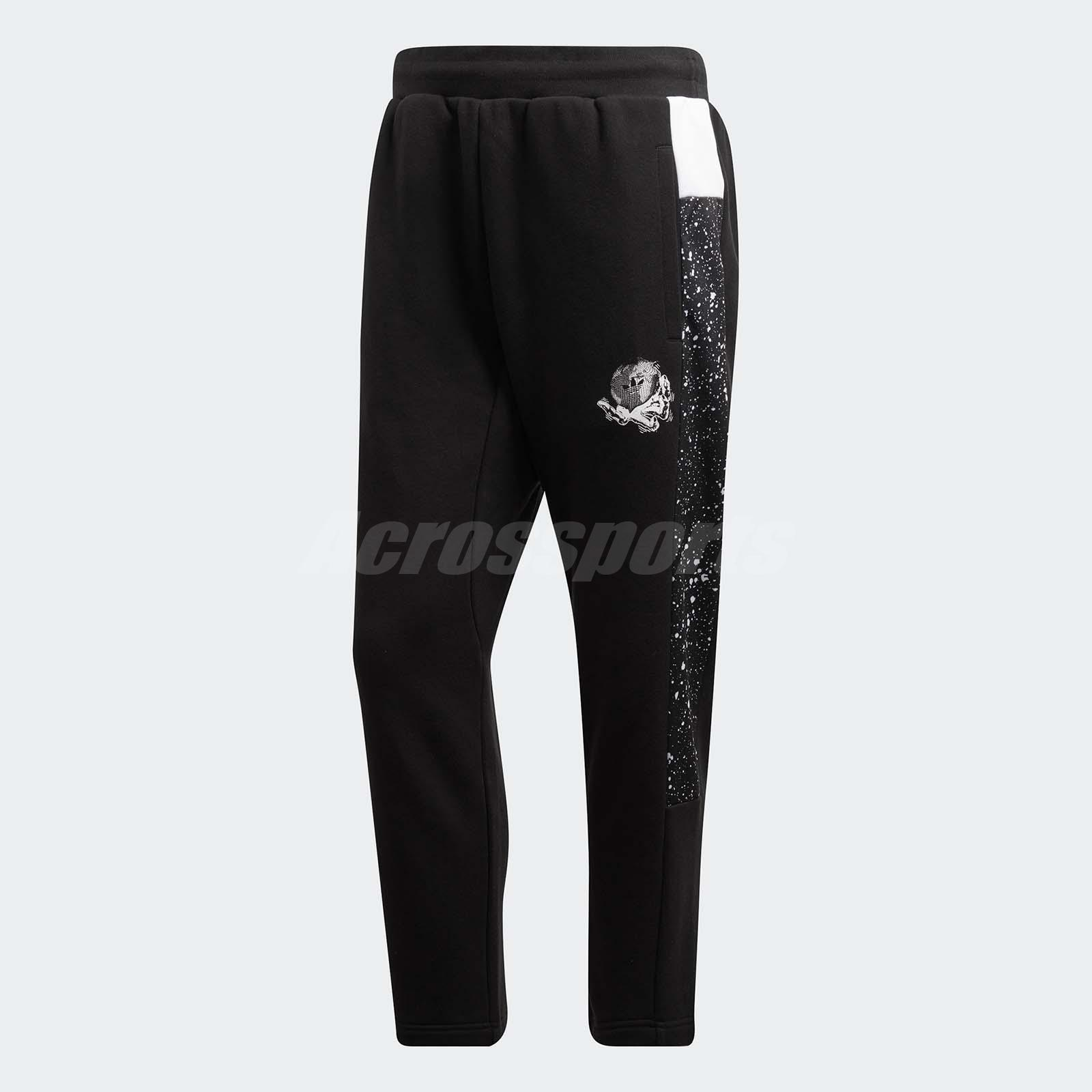 adidas Men Originals Planetoid Sweat Pants Taper Cropped Sports Gym Black DX6012