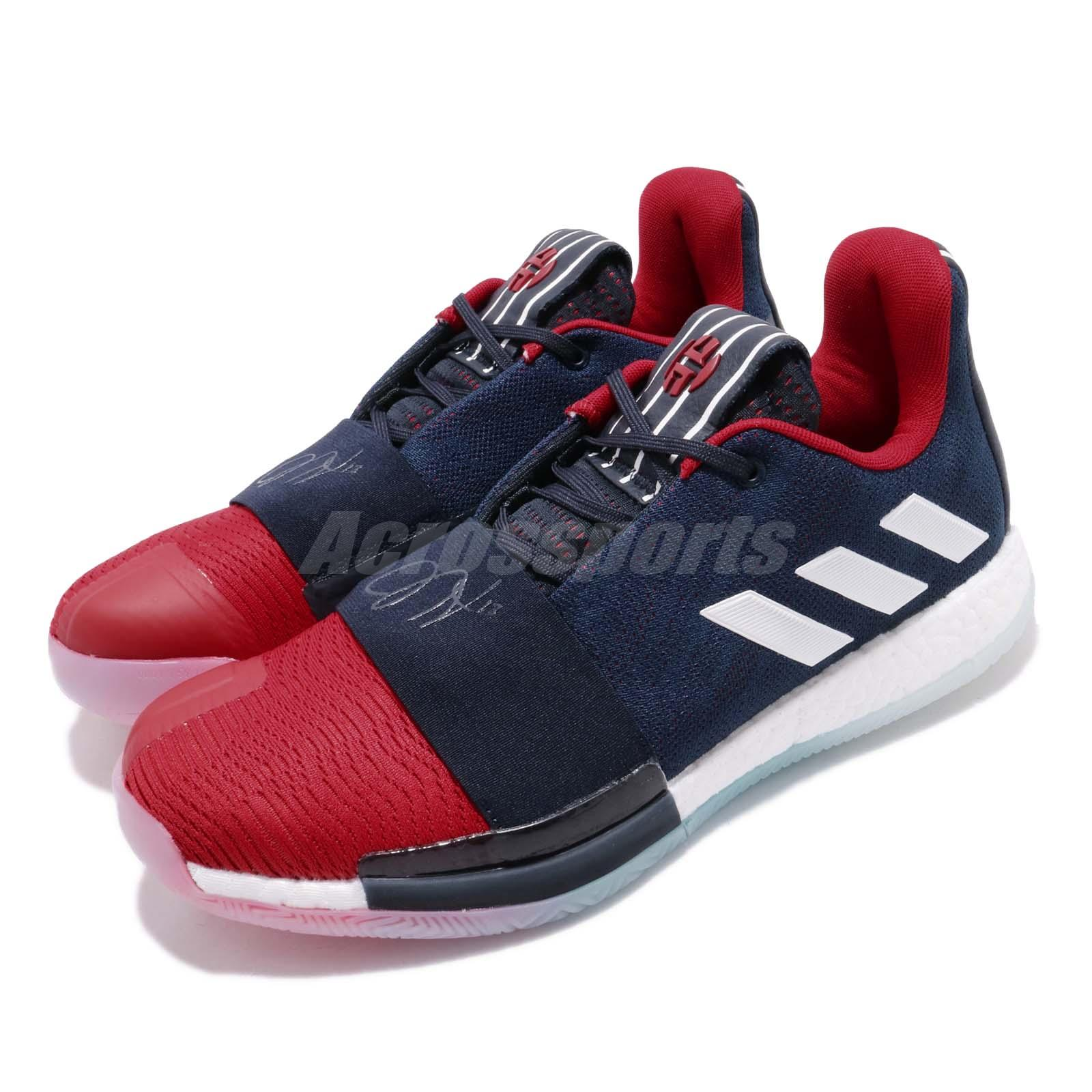 304989e5bbca Details about adidas Harden Vol. 3 Shark Navy Red White James Mens  Basketball Shoes EE3954