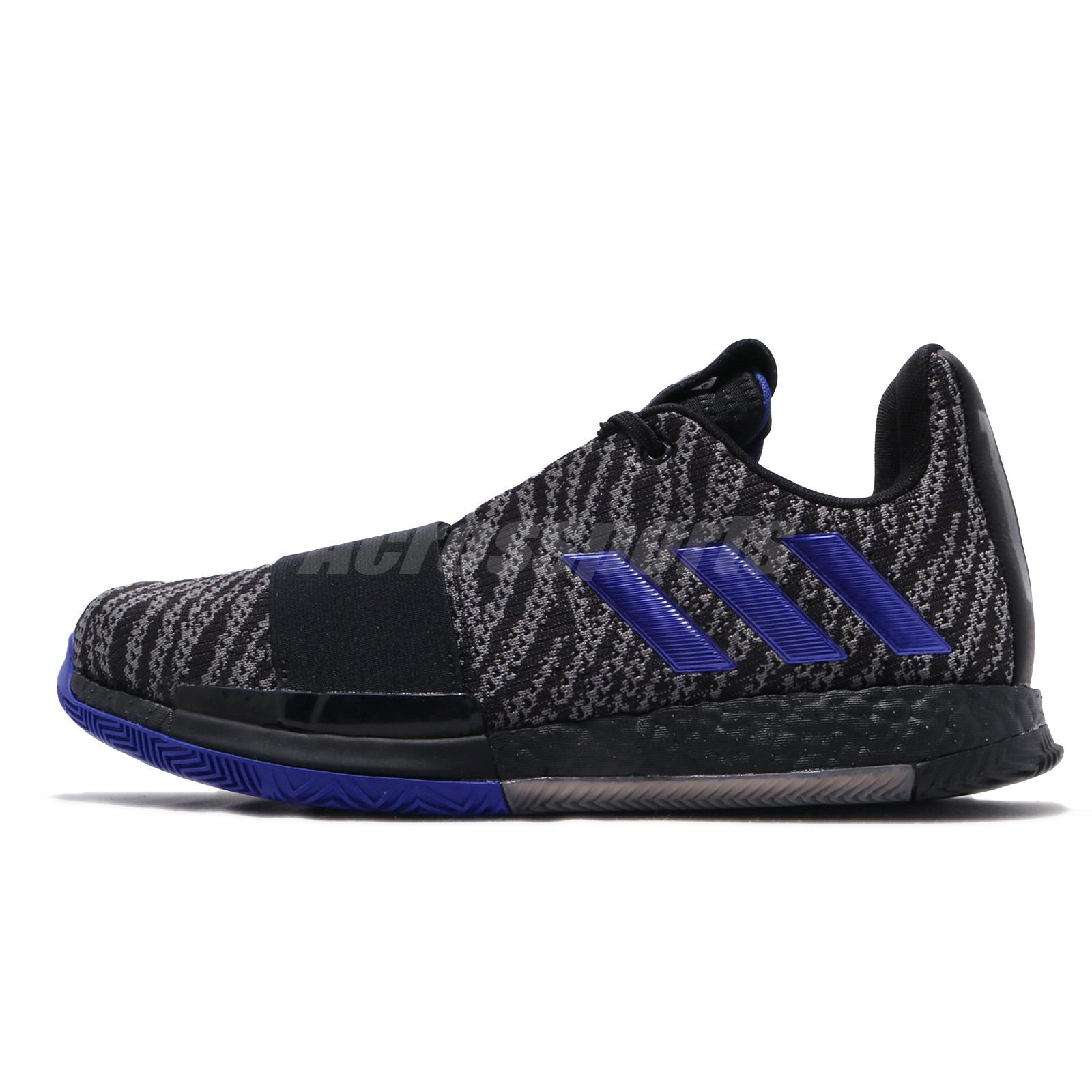 7729fec22313 adidas Harden Vol. 3 III Boost James Black Blue Men Basketball Shoes EE3957