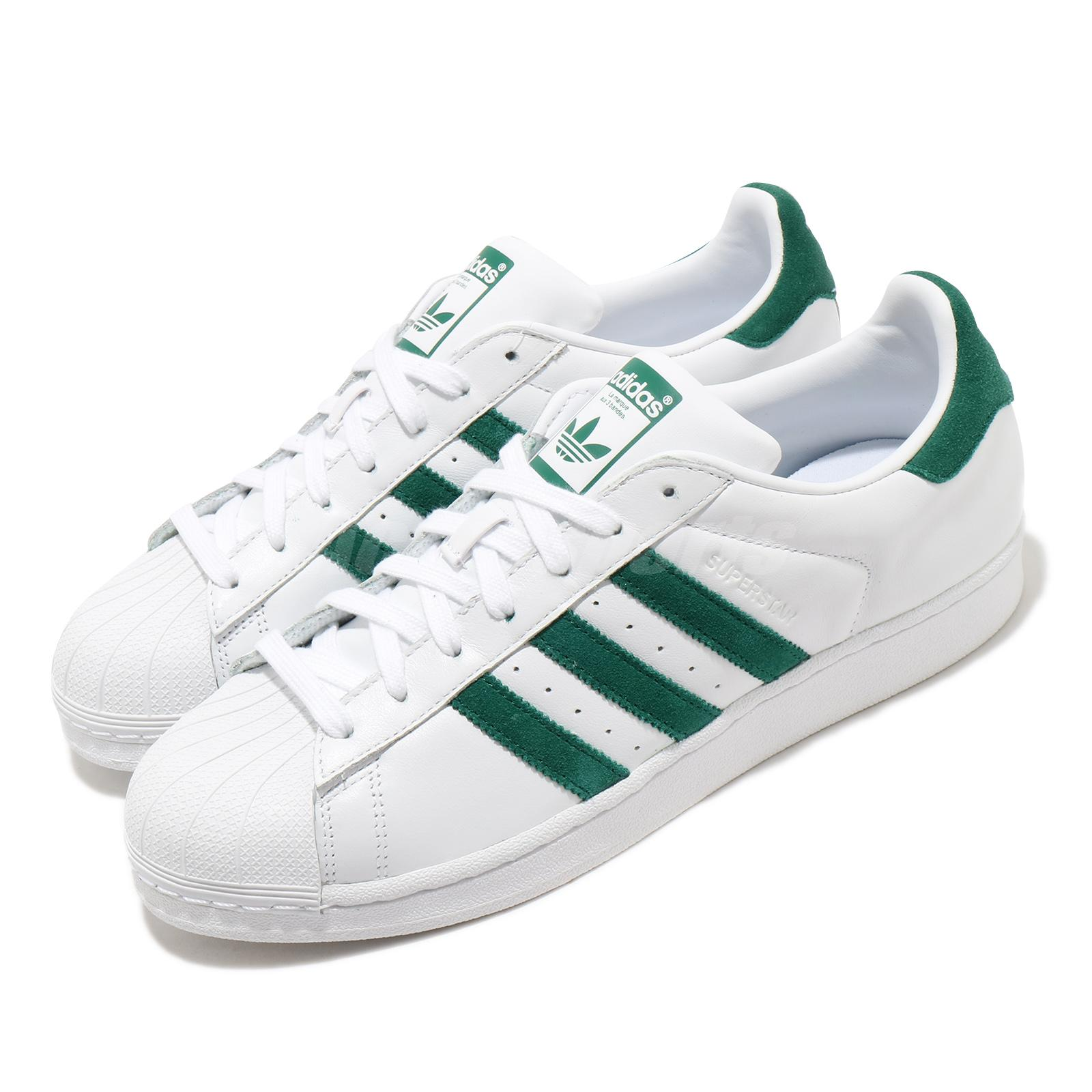 neutral Contrapartida Ídolo  adidas Originals Superstar White Green Men Women Unisex Classic Shoes  EE4473 | eBay