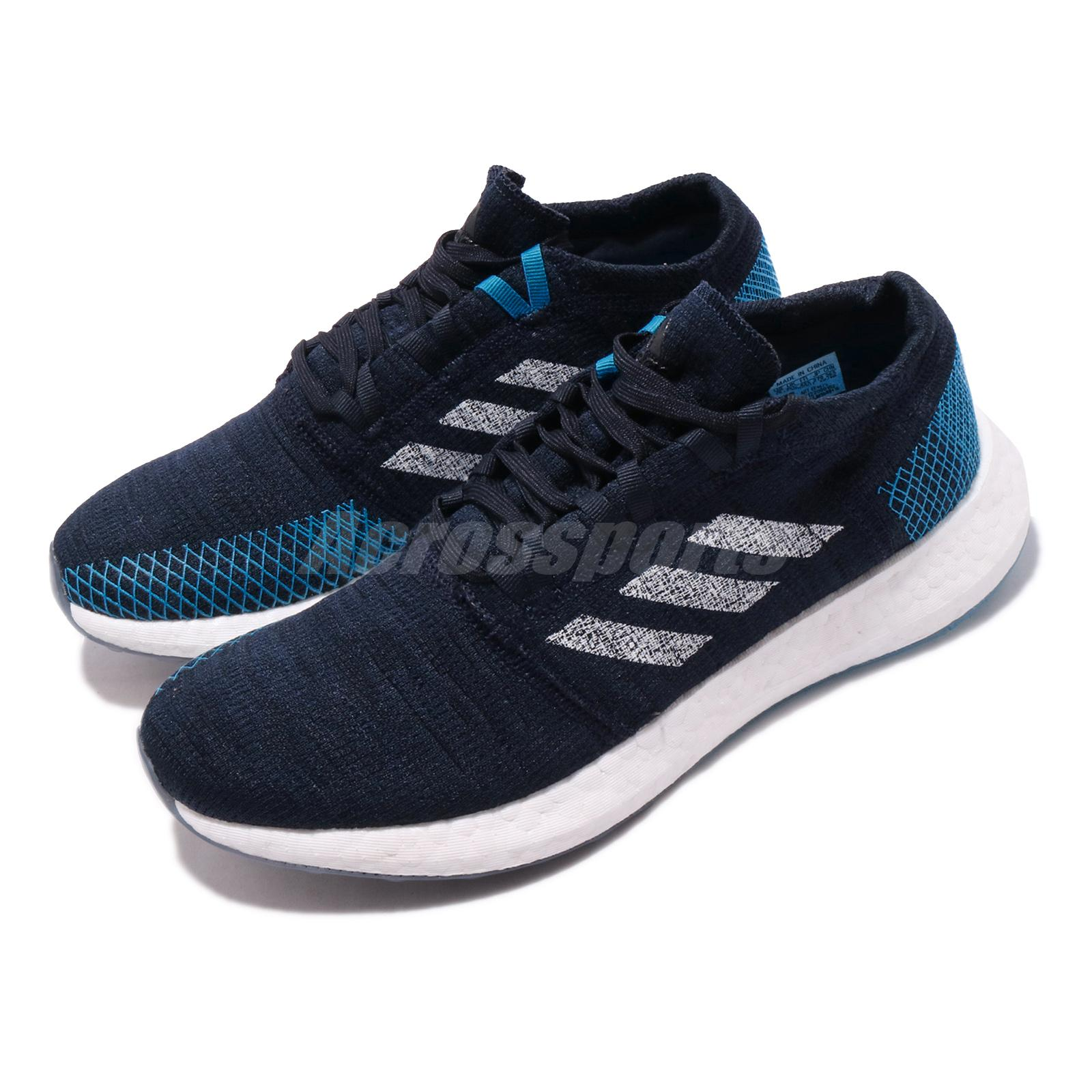 Isaac sustracción alto  adidas PureBOOST Go Blue Navy White Men Running Training Shoes Sneakers  EE4675 | eBay