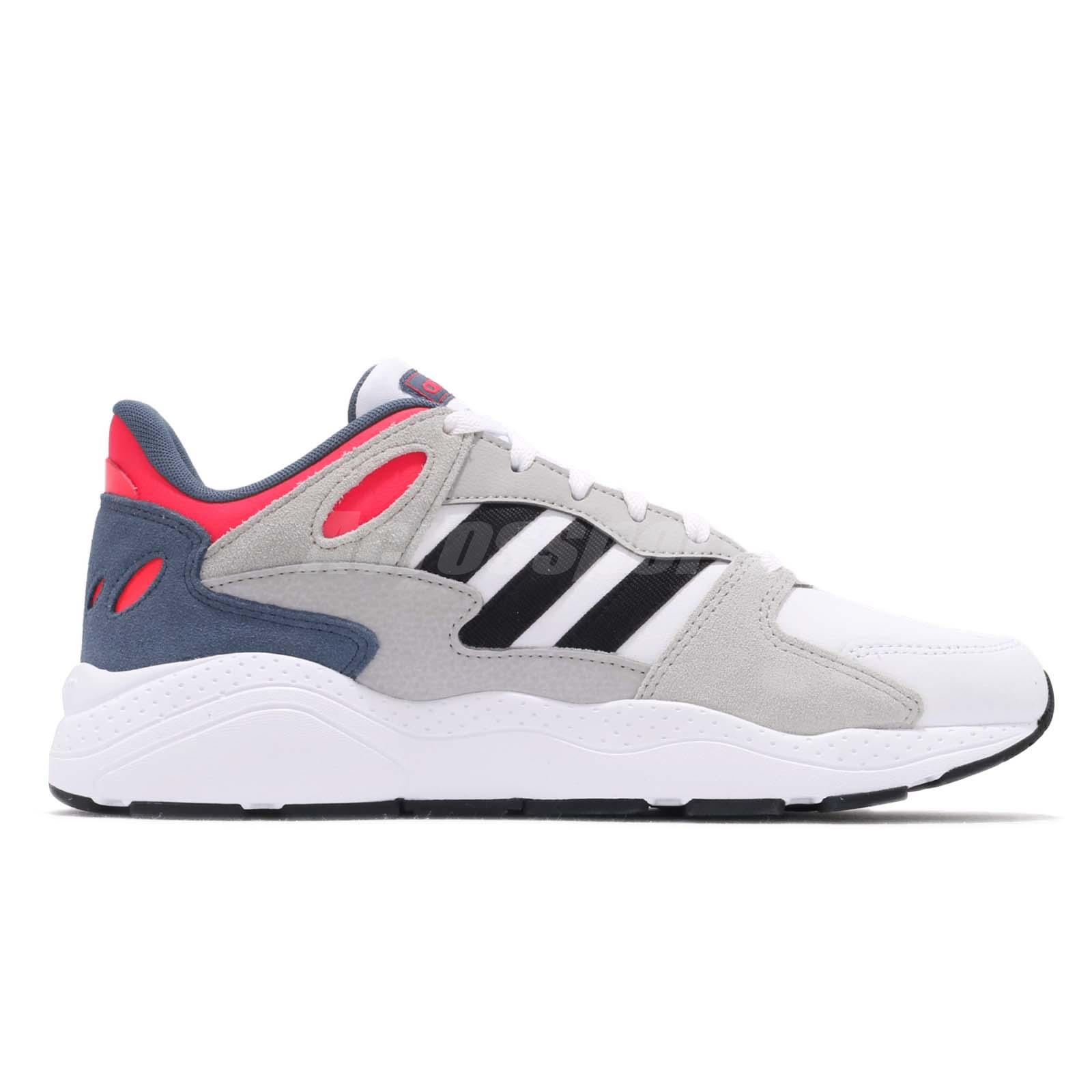 0bec9bbd33b adidas Chaos White Black Solar Red Men Running Casual Shoes Sneakers ...