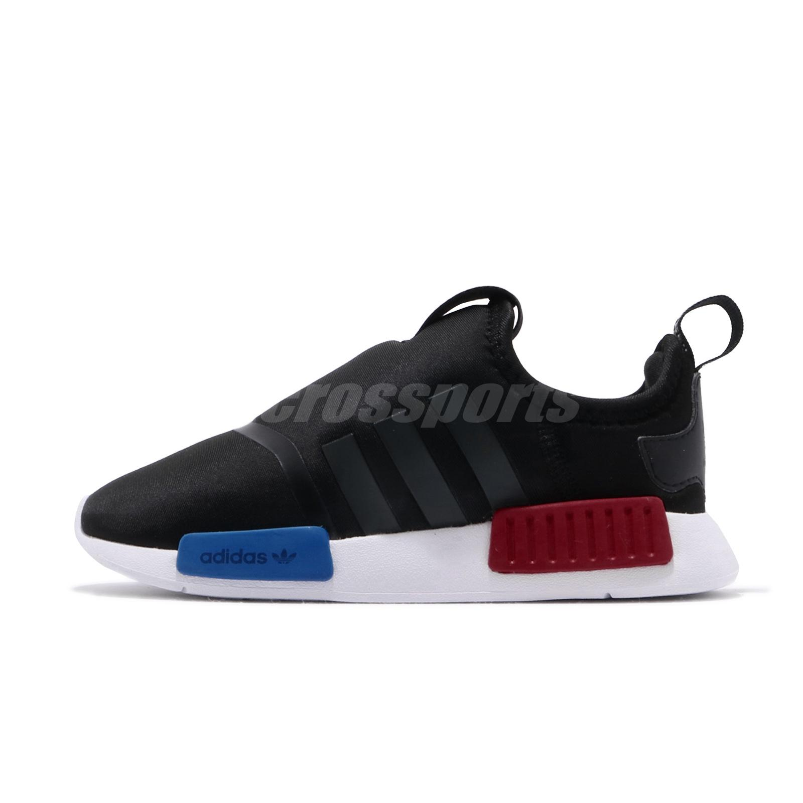 Adidas Nmd 360 I Black White Blue Red Td Toddler Infant Baby Slip