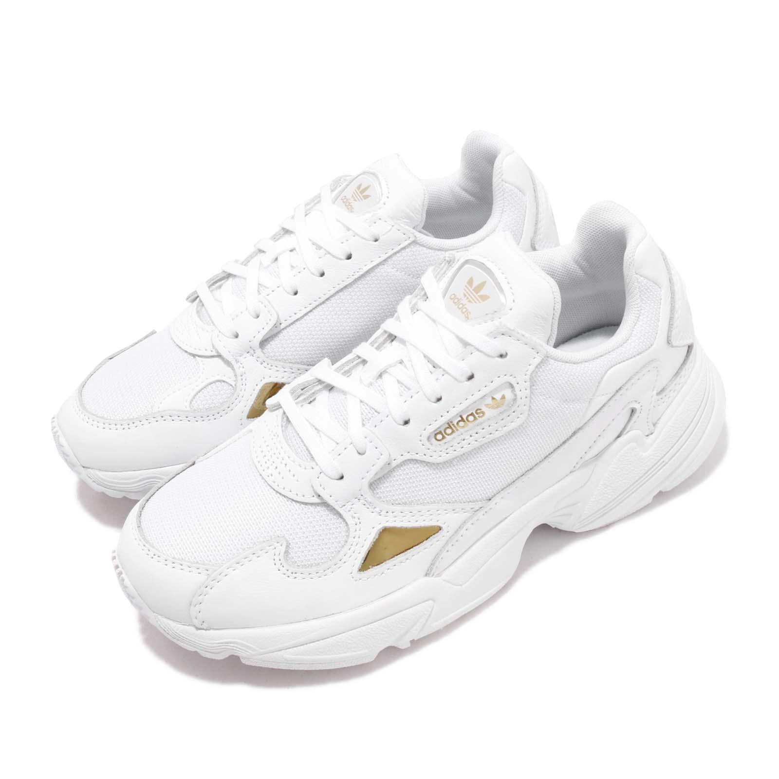 Details about adidas Originals Falcon W White Gold Metallic Women Running  Casual Shoes EE8838