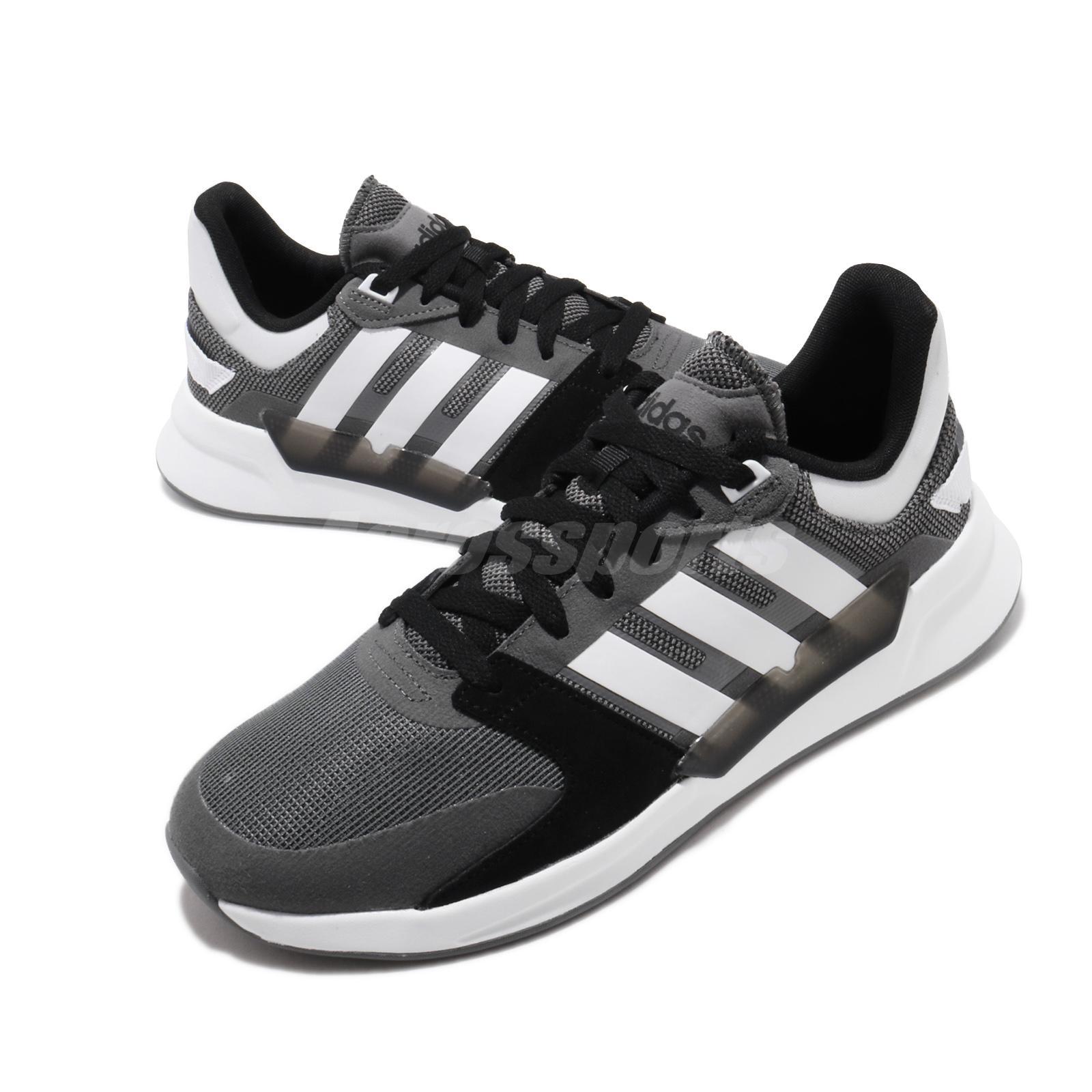 Mirar fijamente Estadio detrás  adidas Run 90s Grey White Men Running Casual Lifestyle Shoes Sneakers  EF0584 | eBay