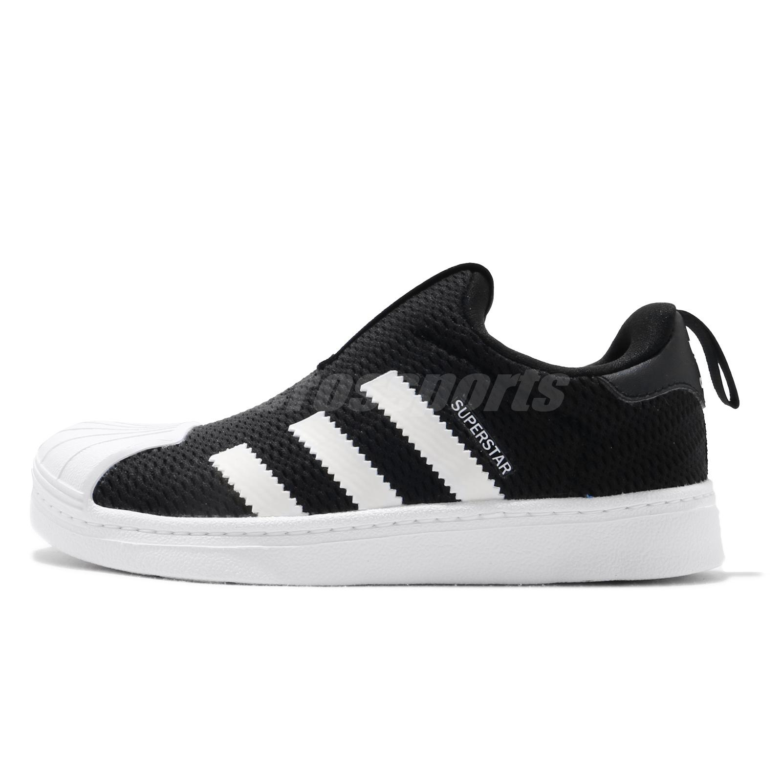 adidas Originals Superstar 360 C Black White Kid Preschool Slip On ...