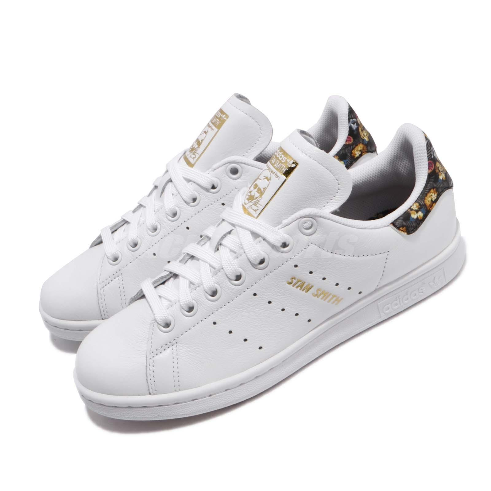 the latest 8f2ec cbb24 Details about adidas Originals Stan Smith White Gold Floral Women Casual  Shoes Sneakers EF1481
