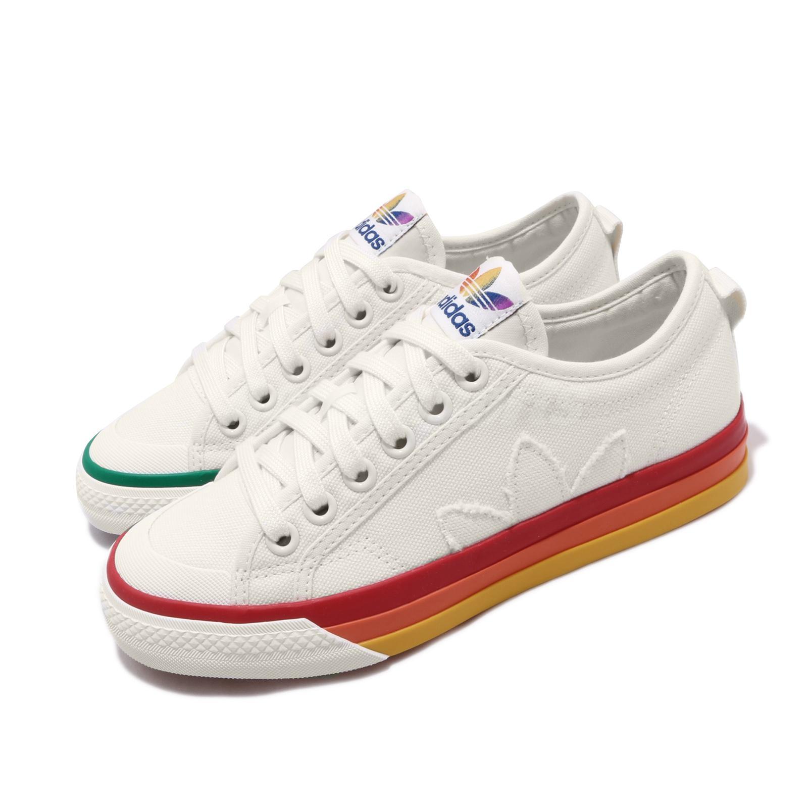Details about adidas Originals Nizza Pride LGBTQ Rainbow Off White Men  Women Unisex EF2319