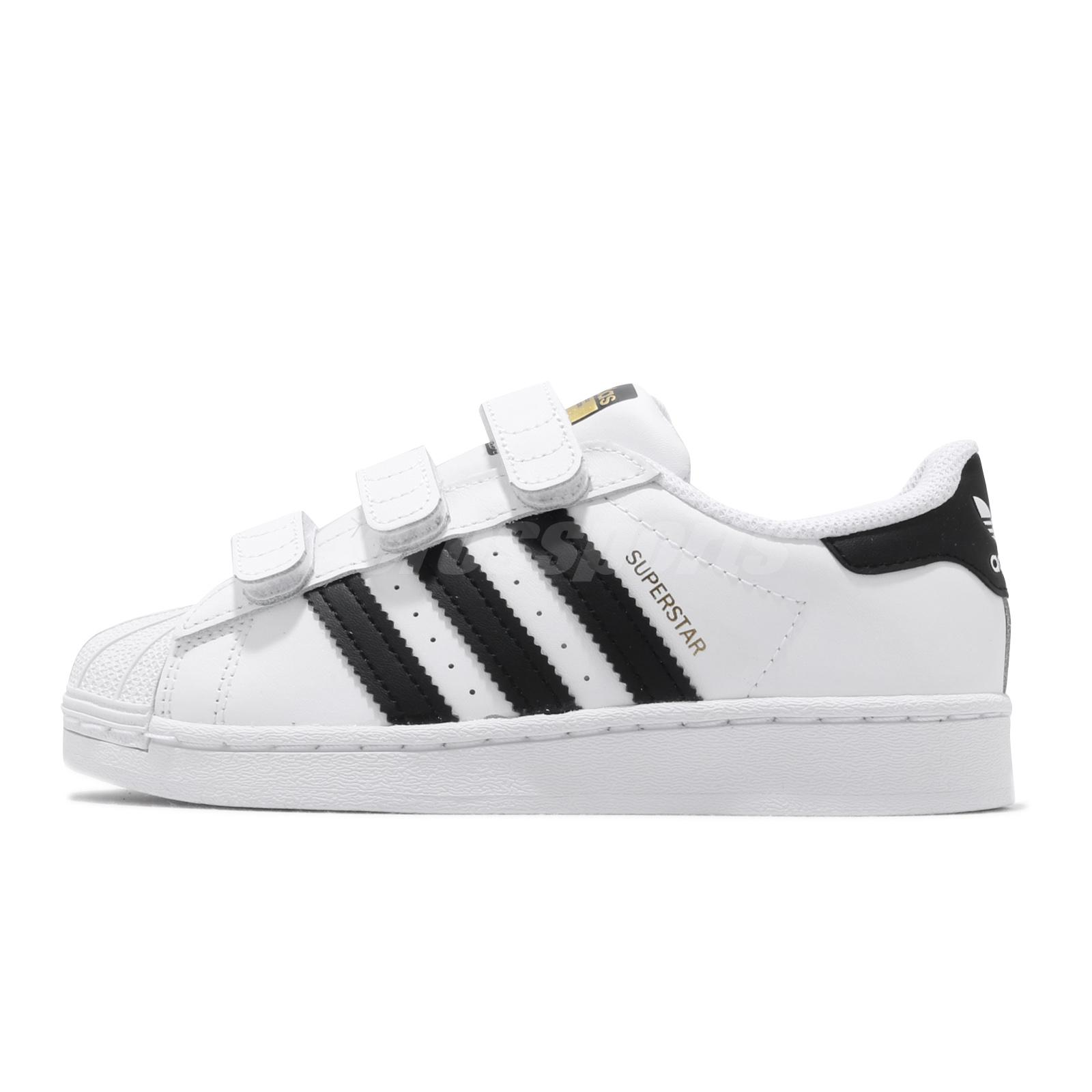 adidas Originals Superstar CF C White Black Preschool Kids Casual ...