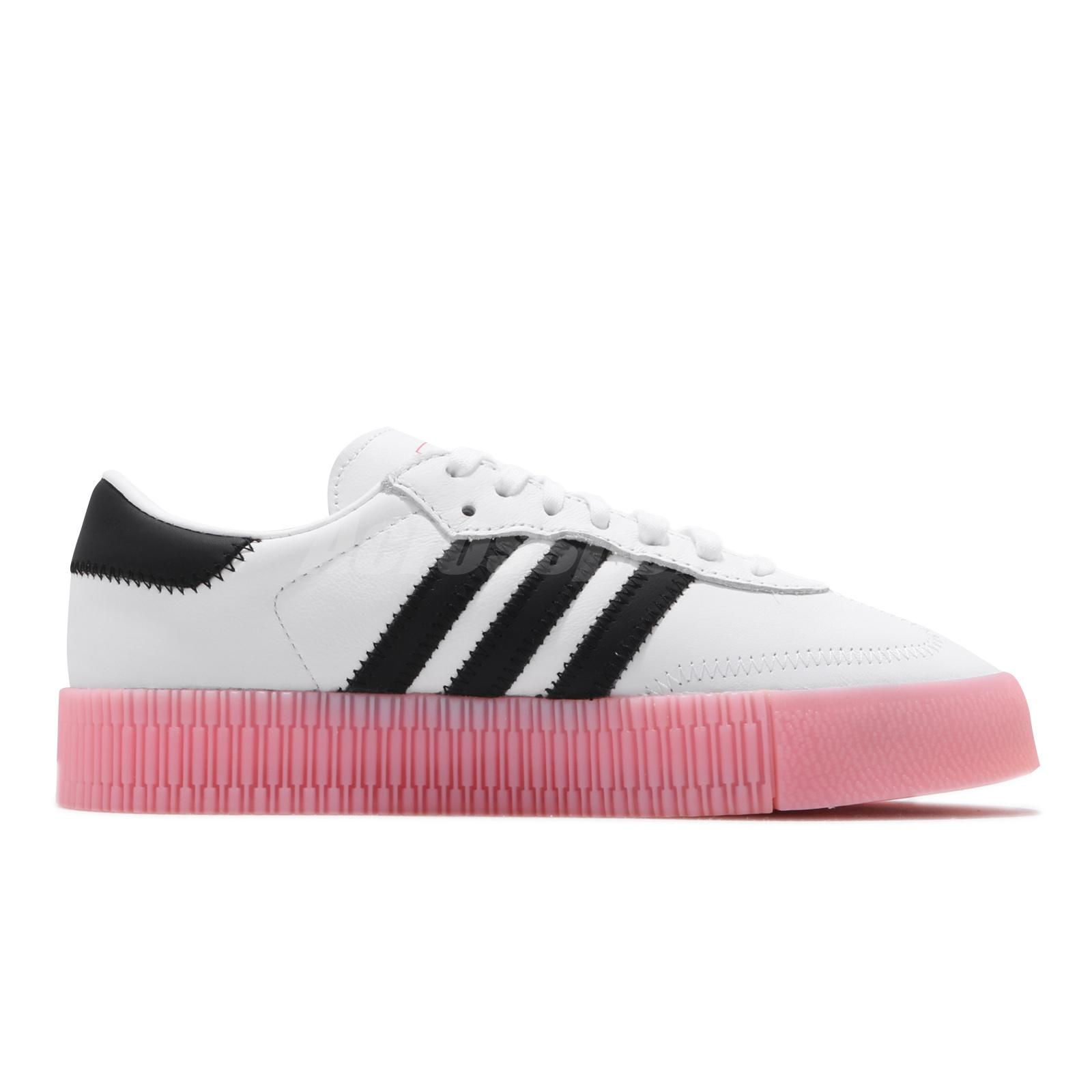 adidas Originals Sambarose W White Black Pink Herat Bold Womens ...
