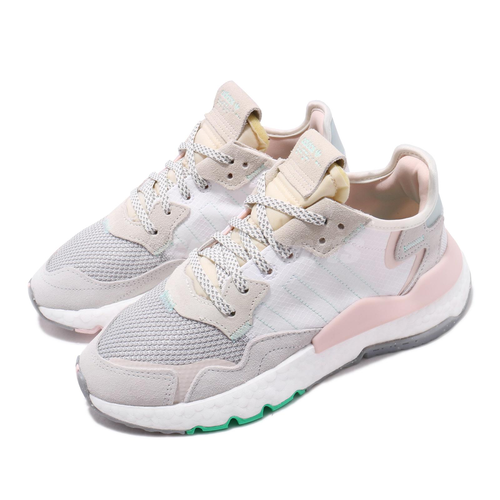 43aa43de8 Details about adidas Originals Nite Jogger W Boost White Grey Pink Women  Running Shoes EF8721