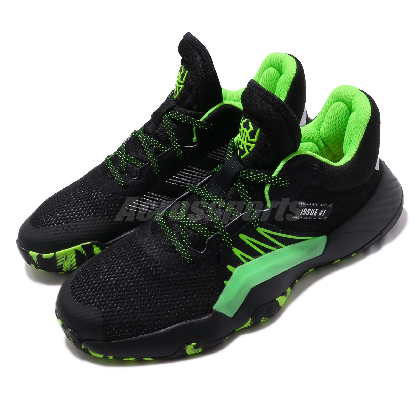 Details about adidas D.O.N. Issue 1 Black Green Stealth Spider Man Marvel Mitchell EF8757