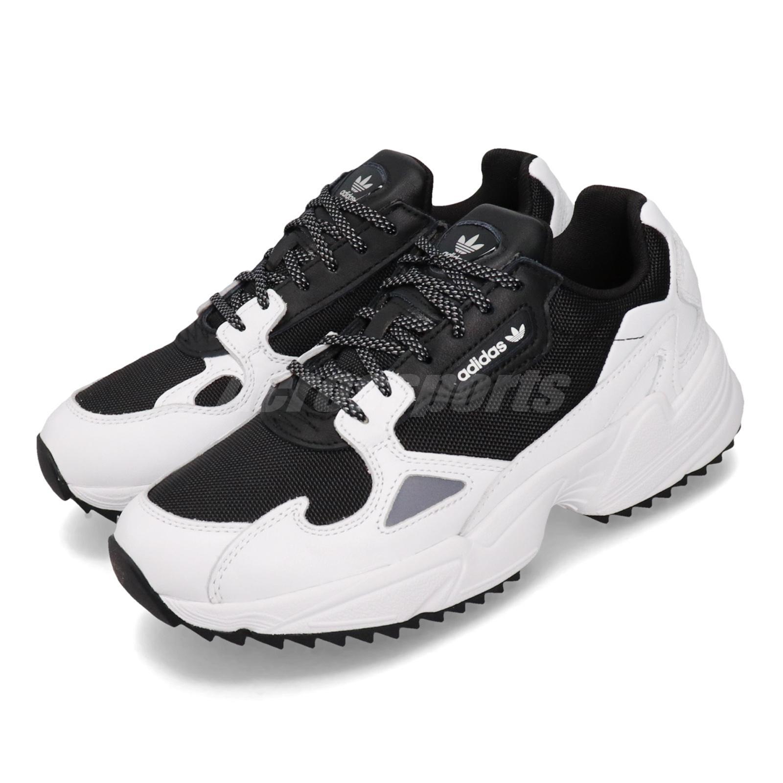 Arqueológico roble calificación  adidas Falcon Trail Black White Women Retro Running Shoes Outdoor Sneaker  EF9024 | eBay