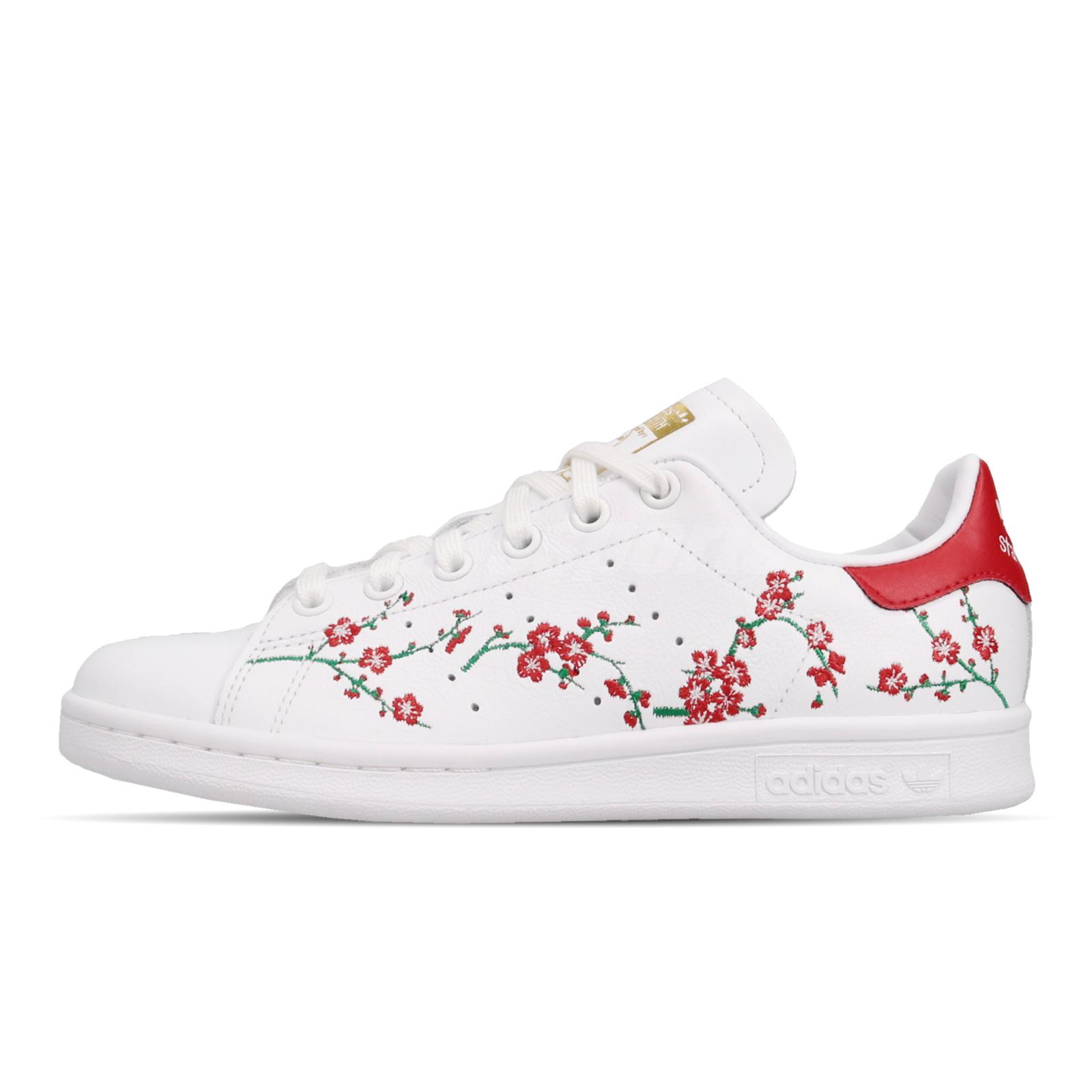 adidas Originals Stan Smith W Floral White Red Women Casual Shoes