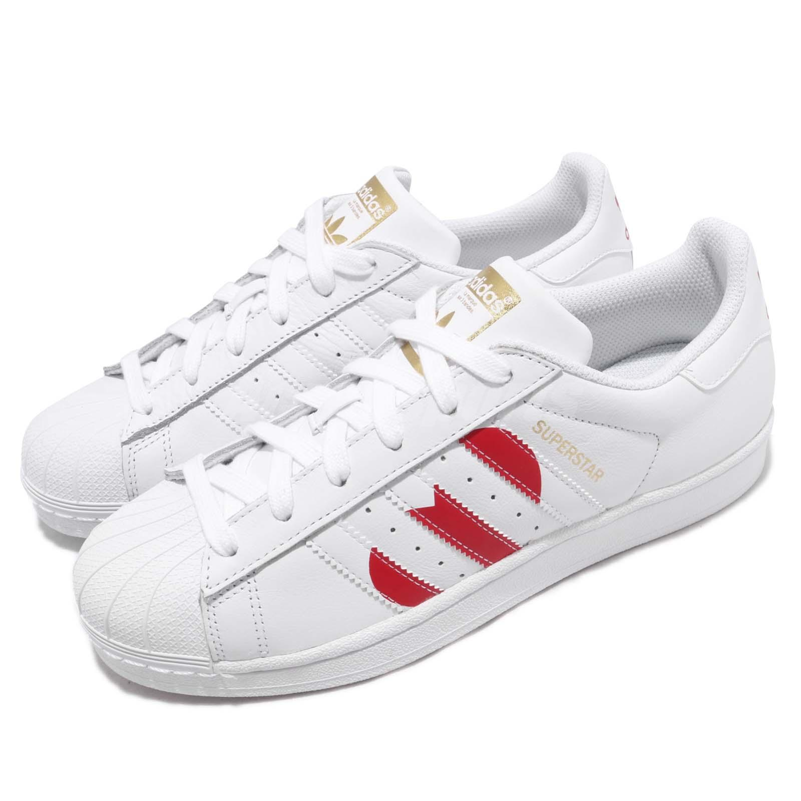 f7cc36cfaaeb4f adidas Originals Superstar White Red Heart Valentines Day Men Women ...