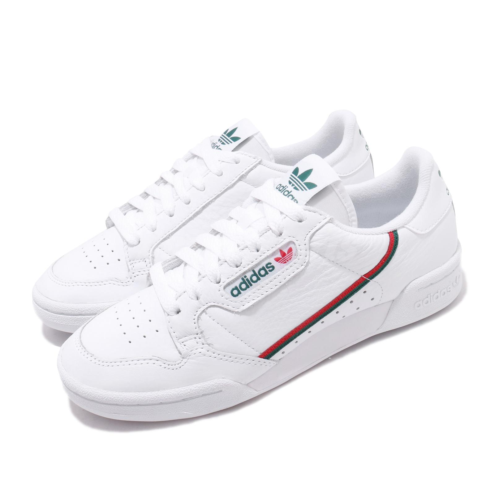 Details about adidas Originals Continental 80 White Green Red Men Women  Casual Shoes EG4592