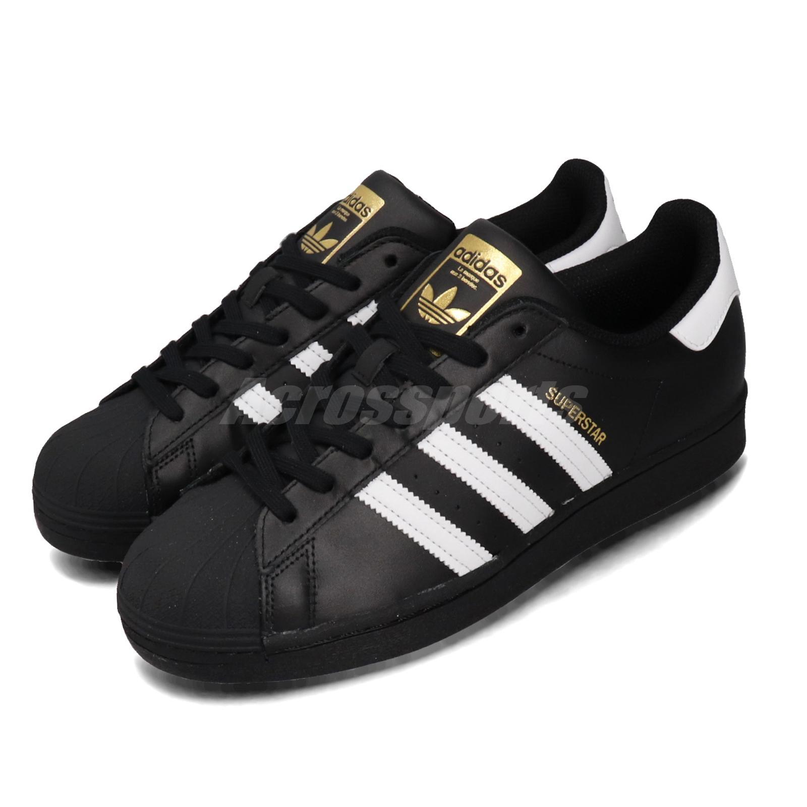 adidas Originals Superstar Black White Gold Men Women Unisex ...