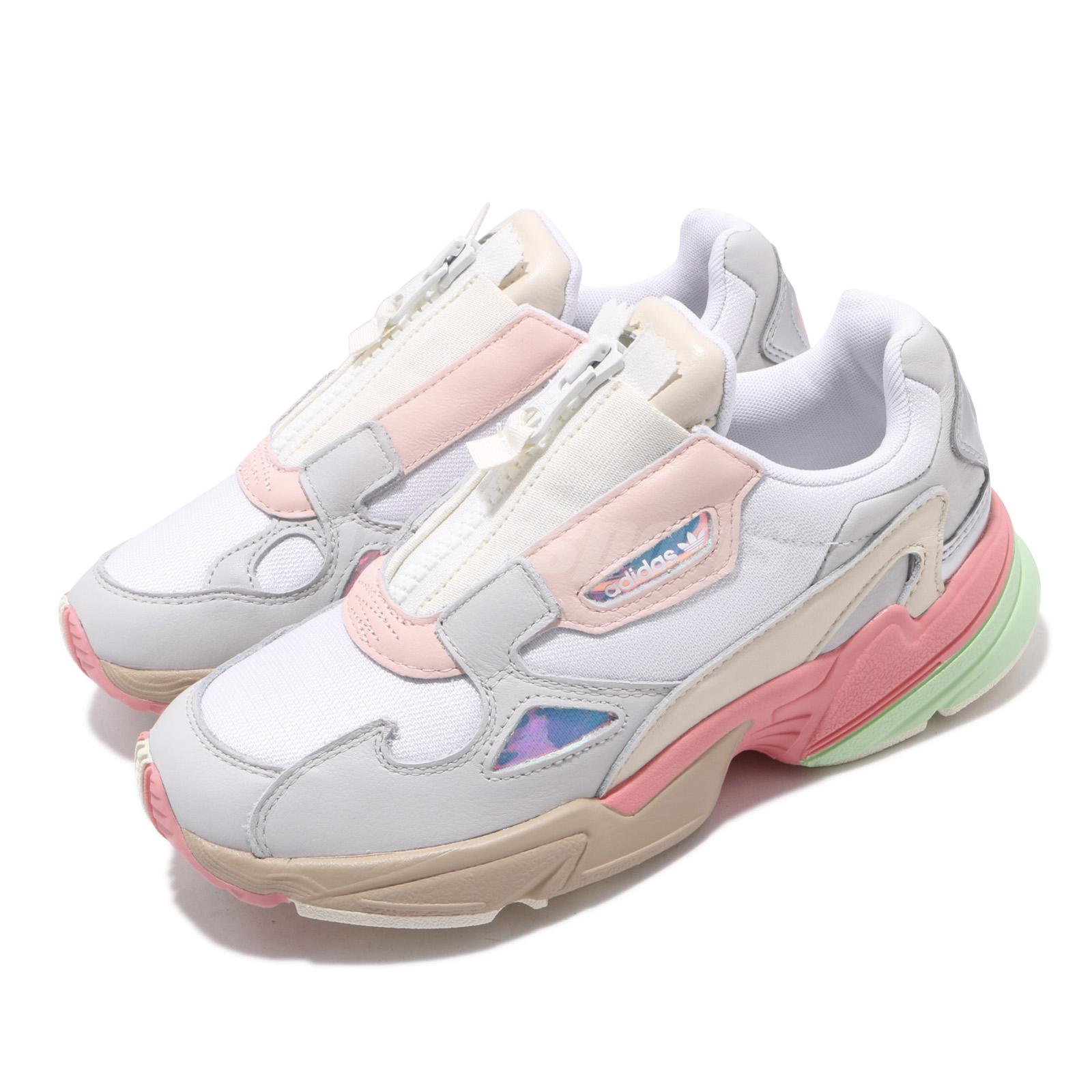 Details about adidas Originals Falcon Zip W White Grey Tactile Rose Pink  Women Shoes EG6740