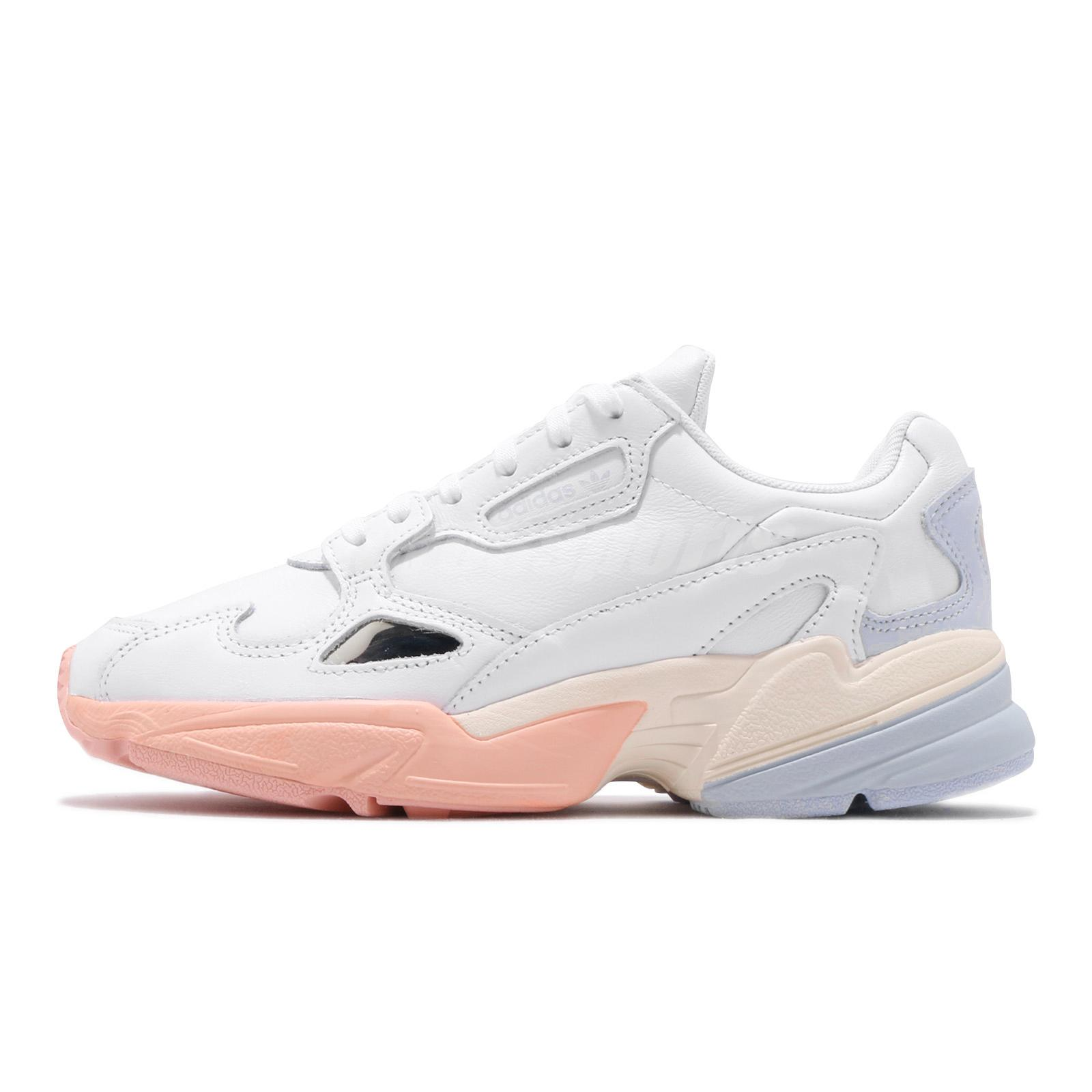 mercenario ladrar Halar  adidas Originals Falcon W White Blue Pink Womens Casual Shoes Sneakers  EG8141 | eBay