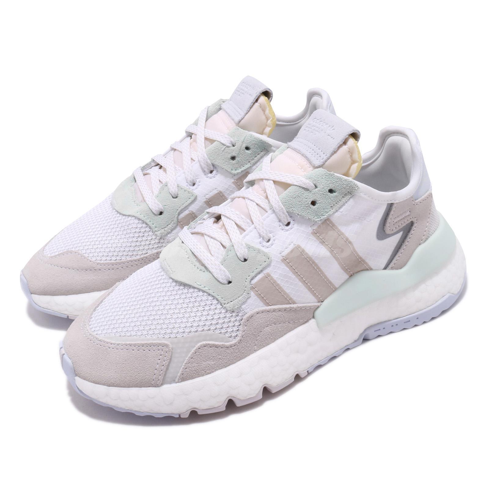 Details about adidas Originals Nite Jogger W White Mint Blue Reflective Womens Shoes EG9197