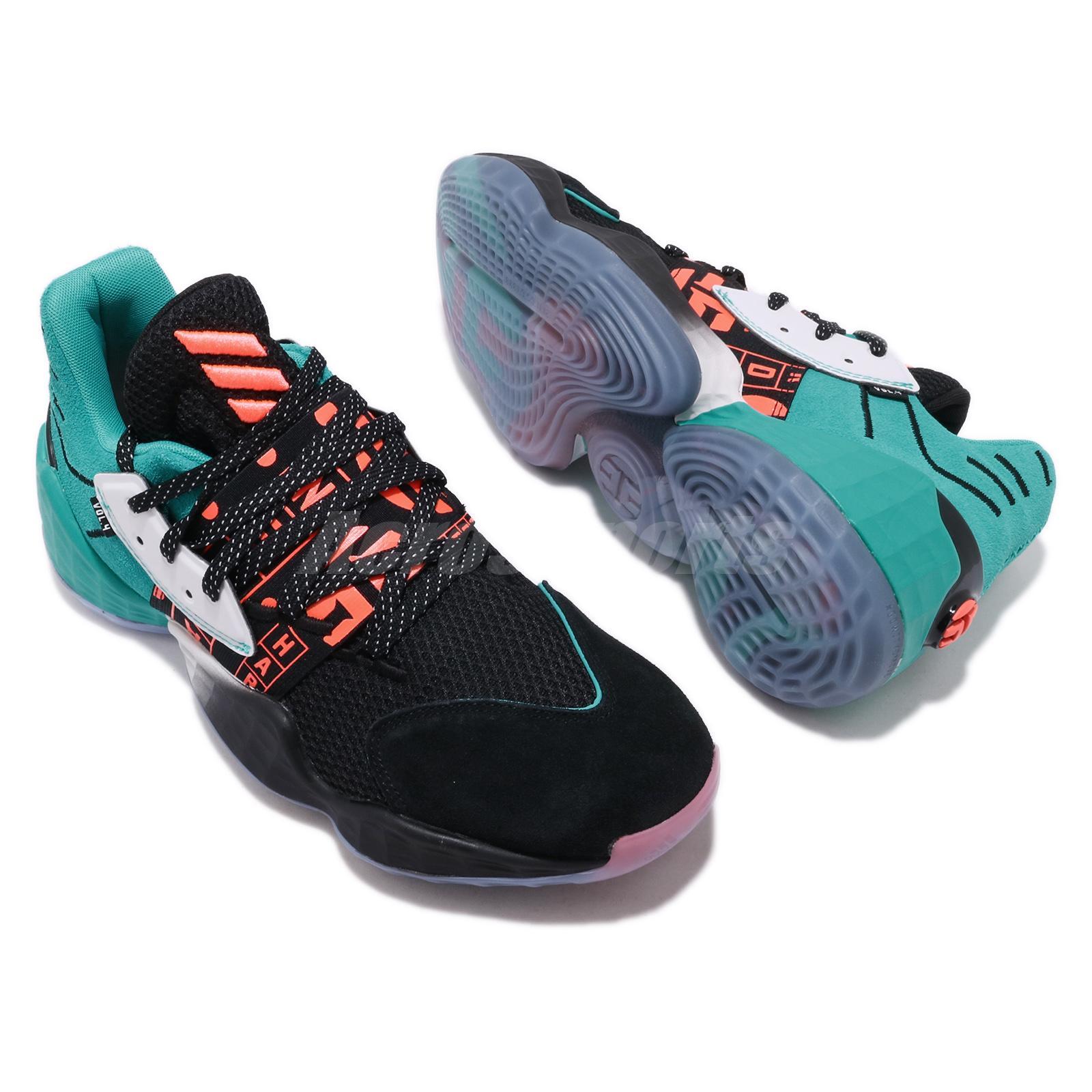 adidas Harden Vol.4 Geek Up Black Blue Orange James Mens Basketball Shoes EH1999