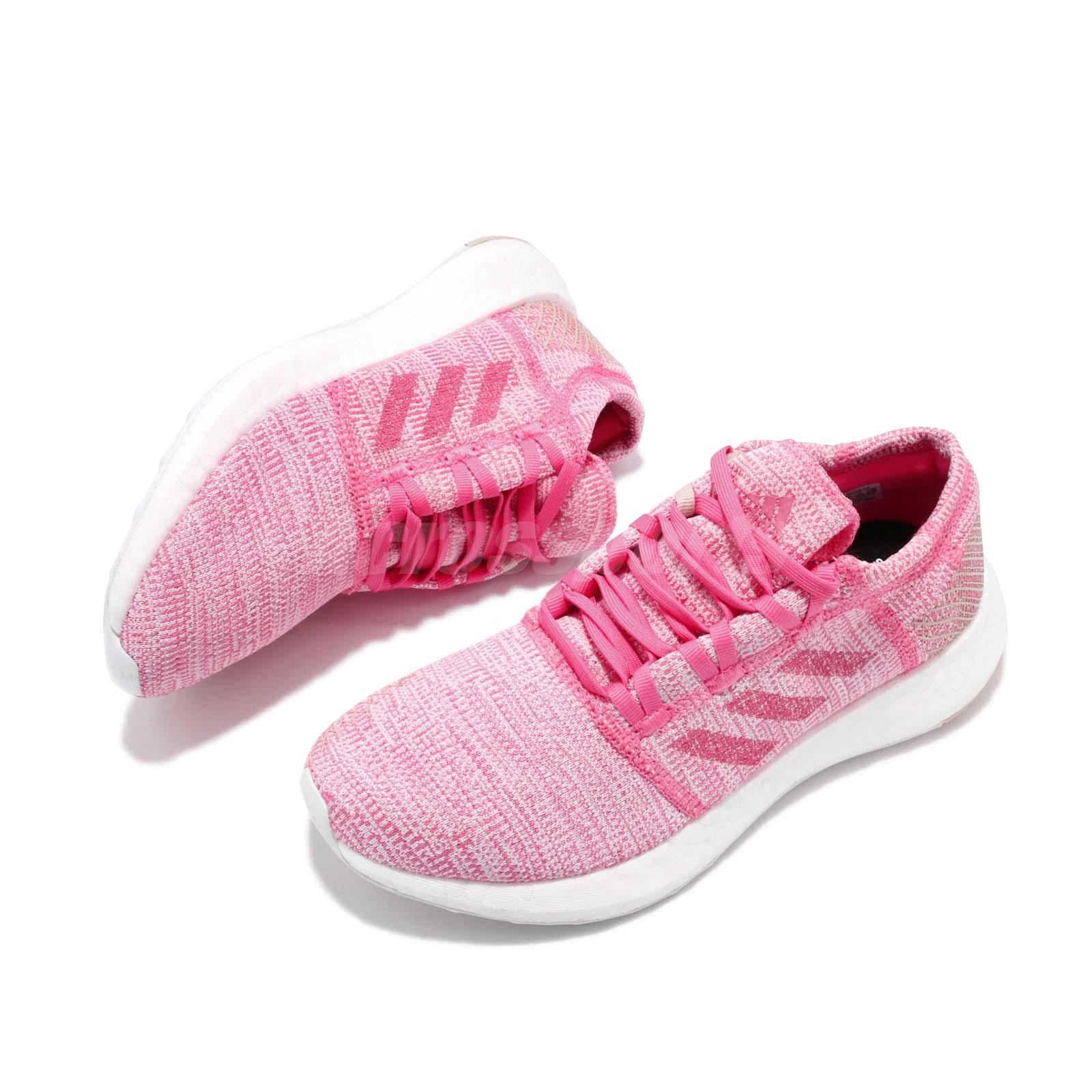 05e12f791 adidas PureBoost Go J Pink White Kid Junior Women Running Shoes ...