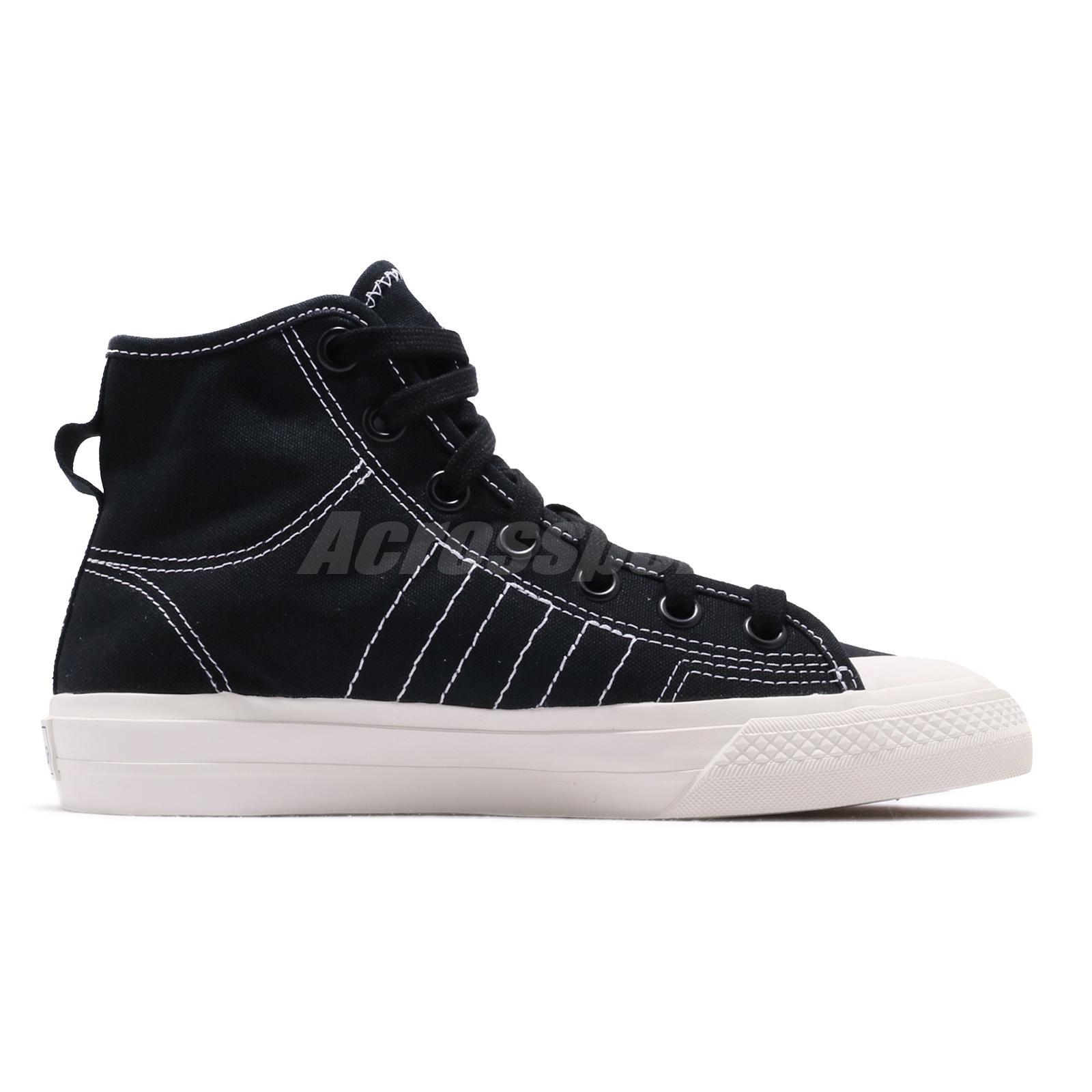 Details about adidas Originals Nizza RF Hi Black Off White Men Women Unisex  Casual Shoe F34057
