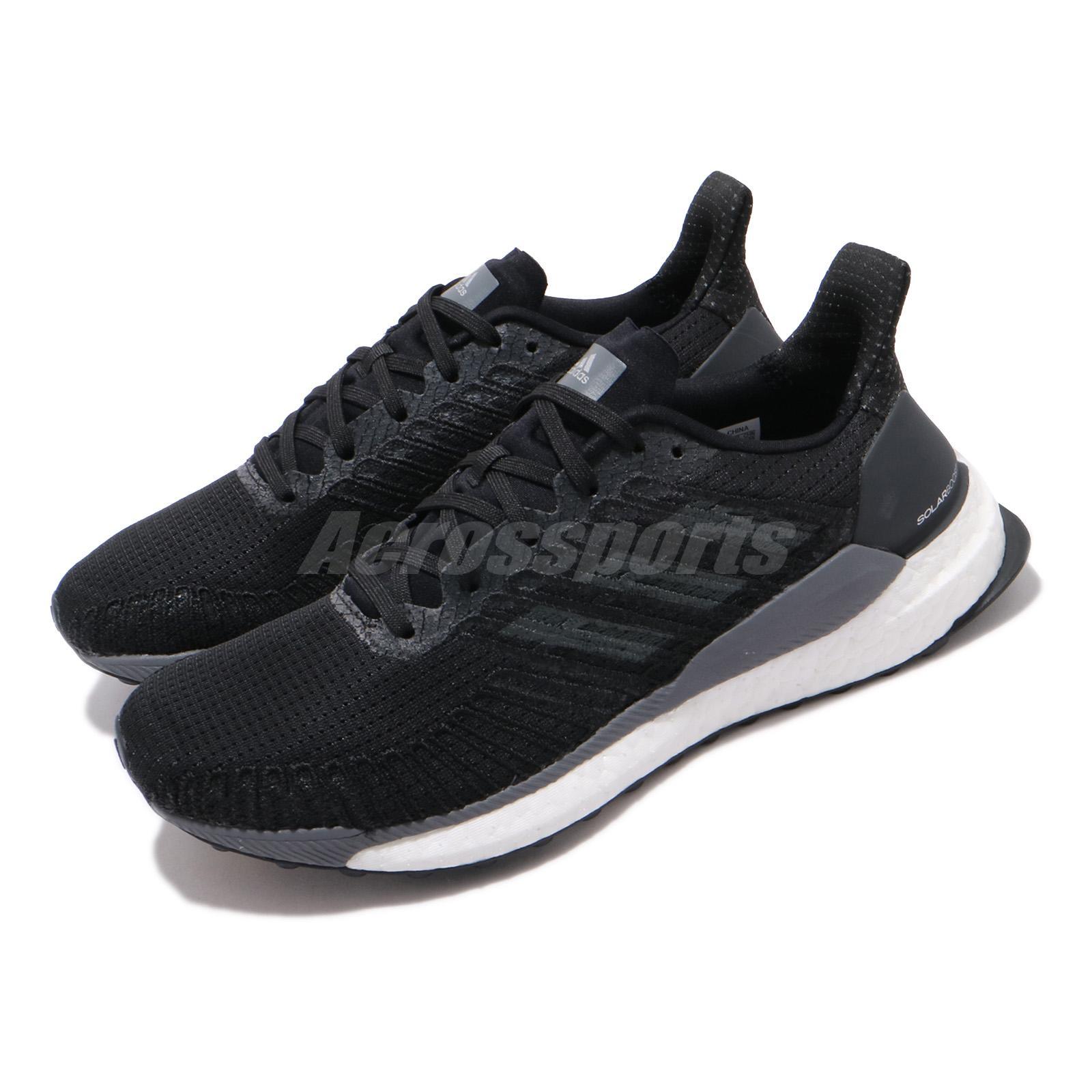 patrocinado cortar a tajos Anzai  adidas Solar Boost 19 W Black Grey White Women Running Shoes Sneakers  F34086 | eBay
