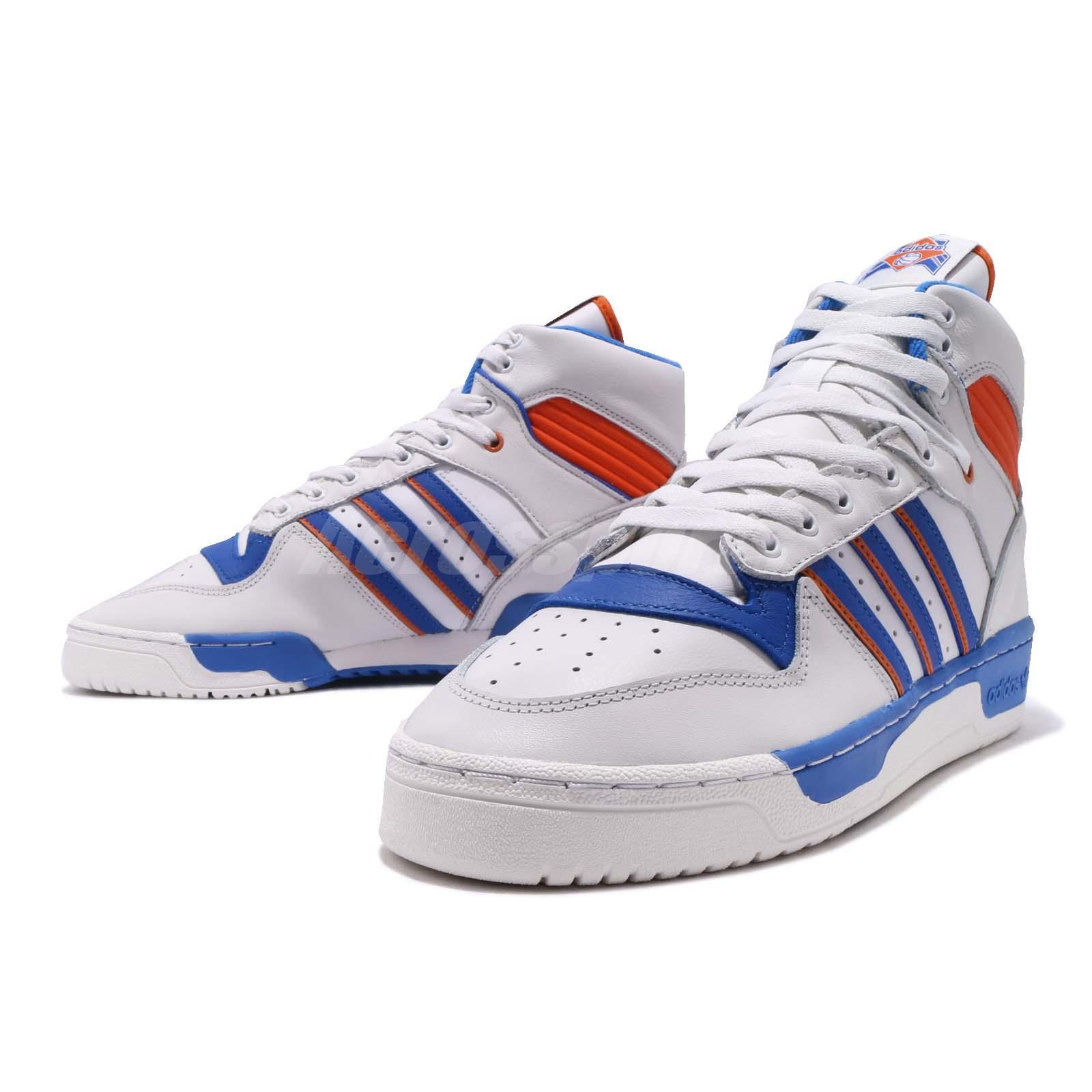 Detalles acerca de Adidas Originals Rivalry Blanco Azul Naranja Hombre Baloncesto Zapatos Tenis F34139 mostrar título original