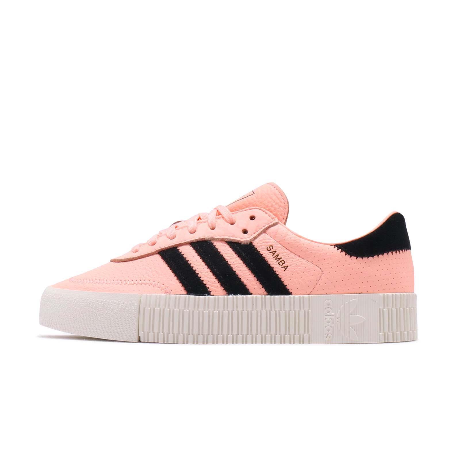 5b026f03cff adidas Originals Sambarose W Orange Black Off White Women Platform Shoes  F34240