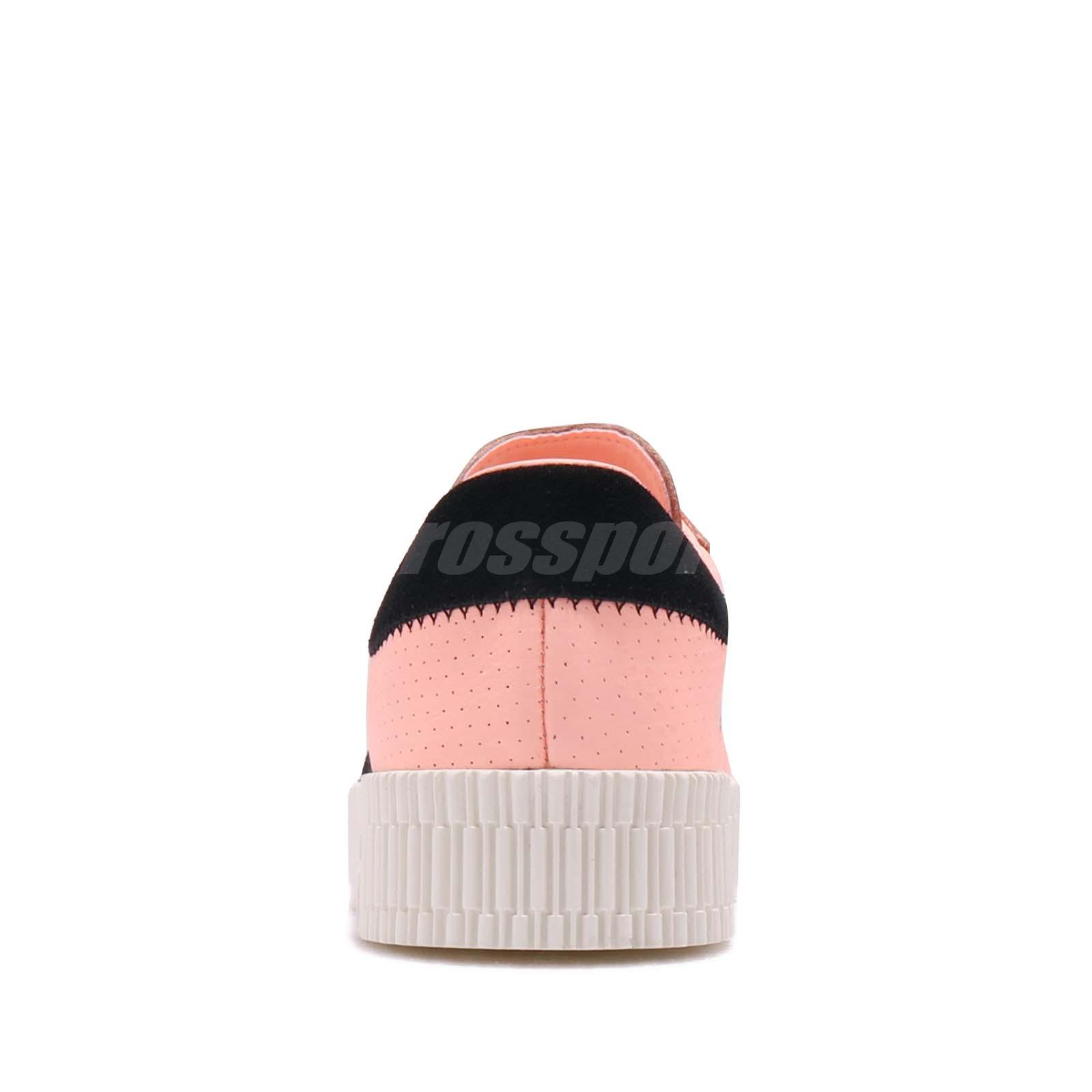 73187999dc9 adidas Originals Sambarose W Orange Black Off White Women Platform ...