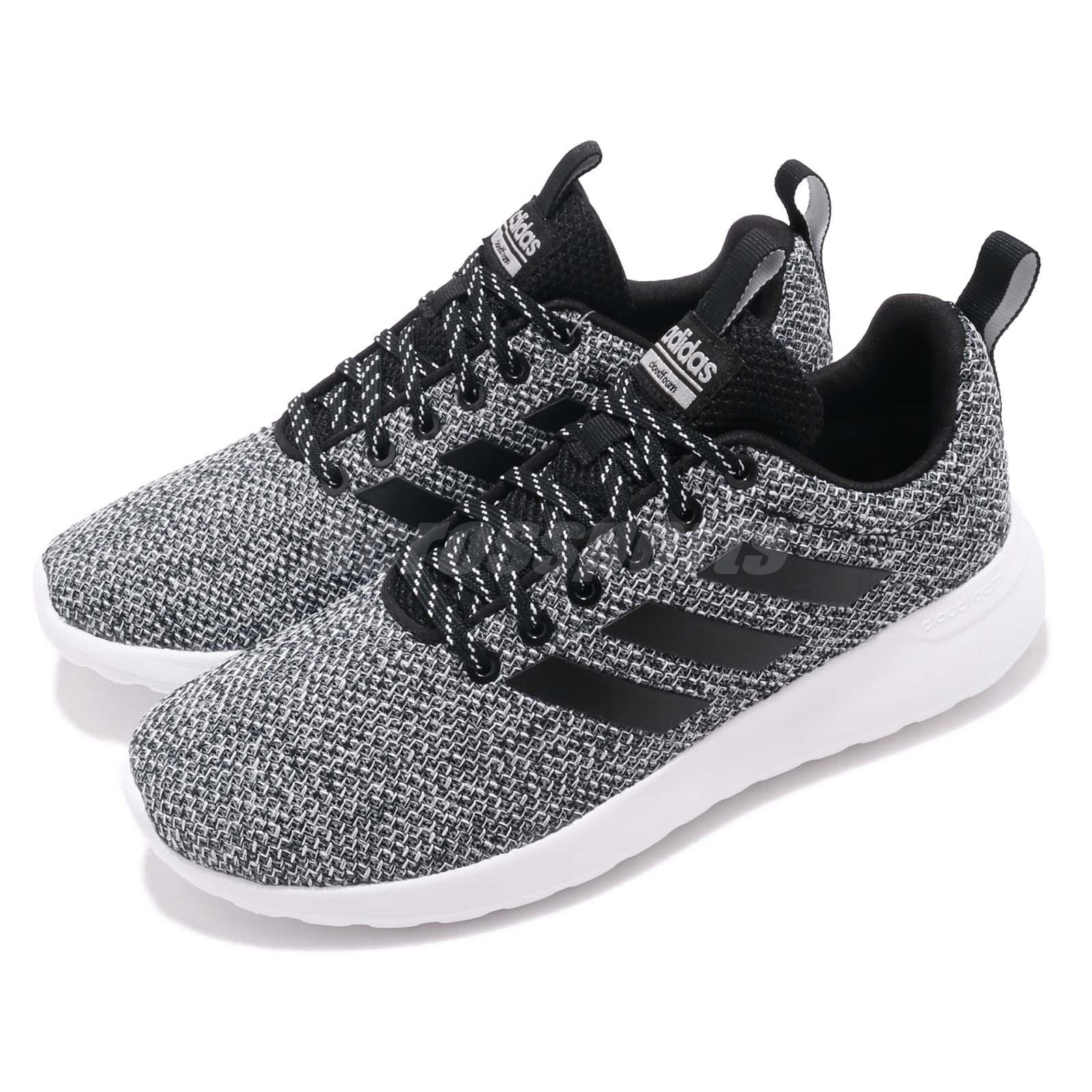 6417e95cbbf Details about adidas Lite Racer CLN Black White Women Running Casual Shoes  Sneakers F34594