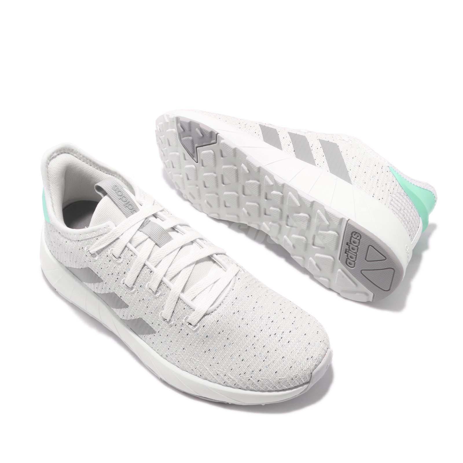 0e981b8099c9 adidas Questar X BYD White Grey Ice Mint Women Running Shoes ...