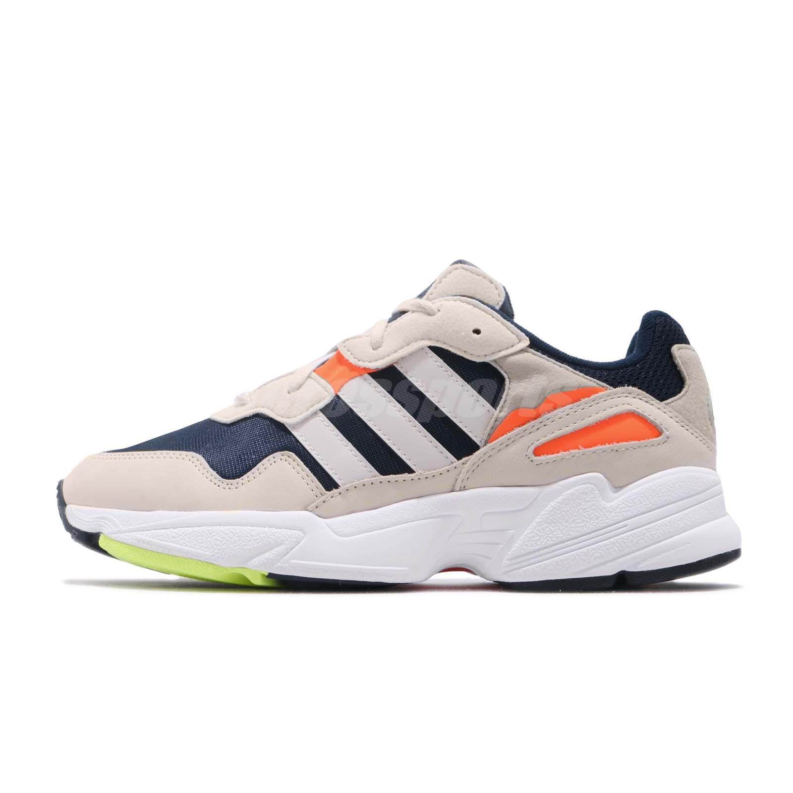7a5dd1c7b161 adidas Originals Yung-96 Ivory Navy Orange Mens Lifestyle Shoes Snakers  F35017