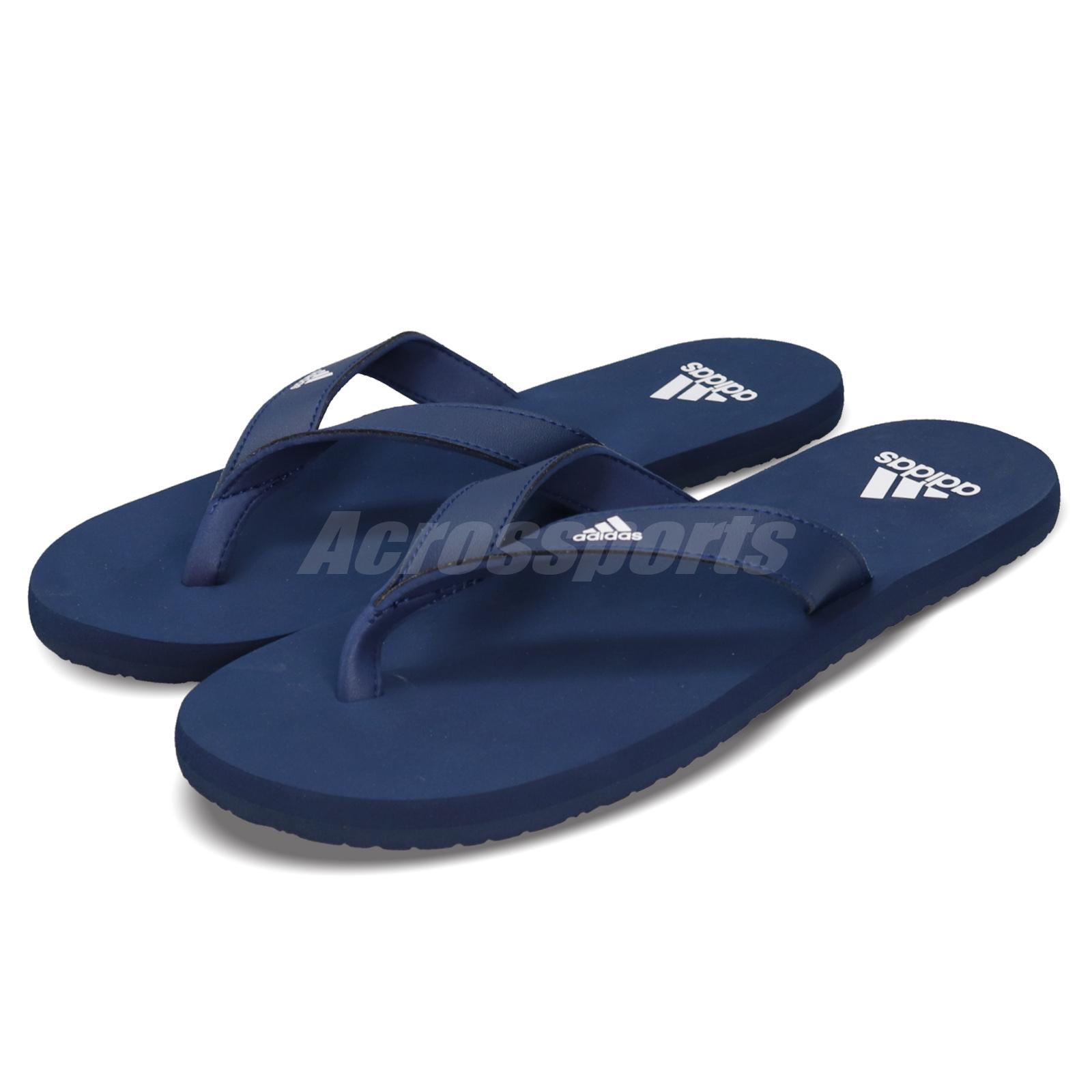 71b20674e Details about adidas Eezay Flip Flop Dark Blue White Men Sports Sandals  Slides Slippers F35028