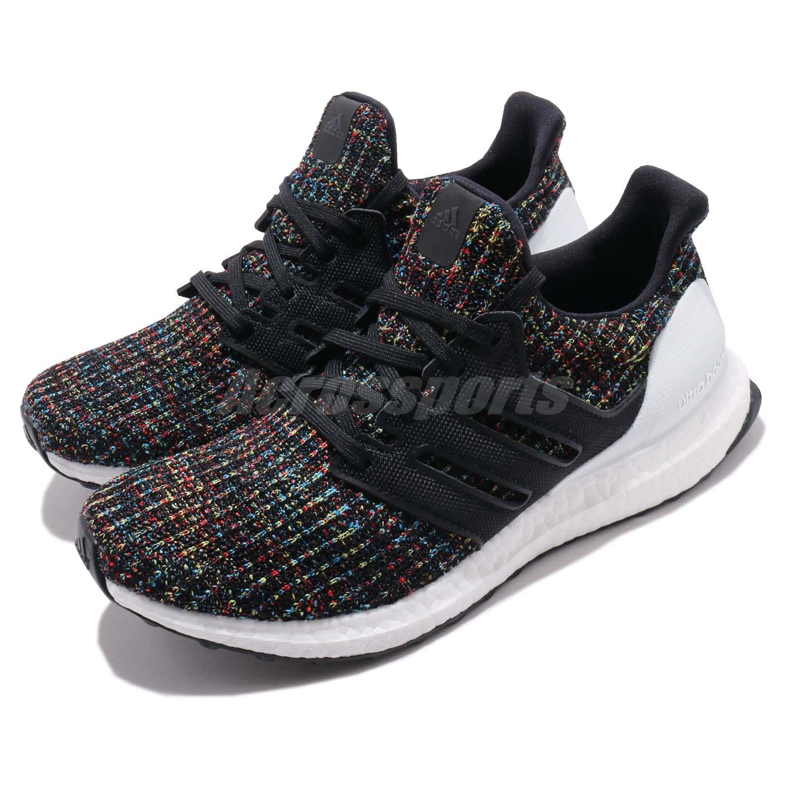 watch 06fc3 405b5 Details about adidas UltraBOOST 4.0 Black Multi-Color White Mens Running  Shoes BOOST F35232
