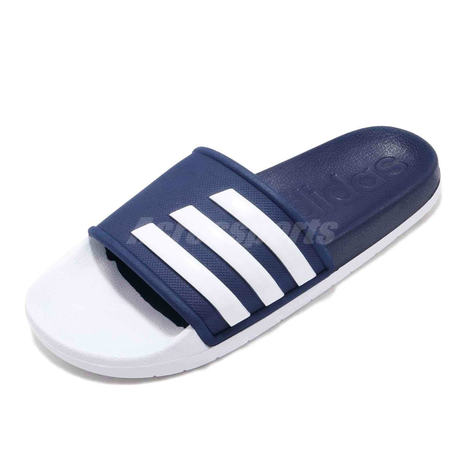 Détails sur adidas Adilette TND Slides Dark Blue White Men Sports Sandals Slippers F35436