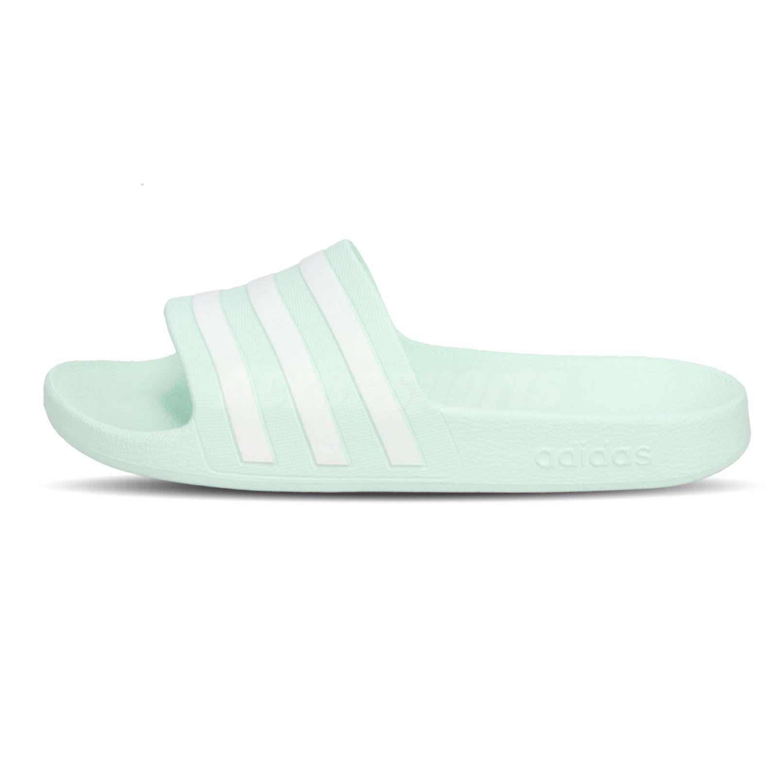 8ef75597cd10 adidas Adilette Aqua Mint Green White Mens Womens Sandal Slipper ...