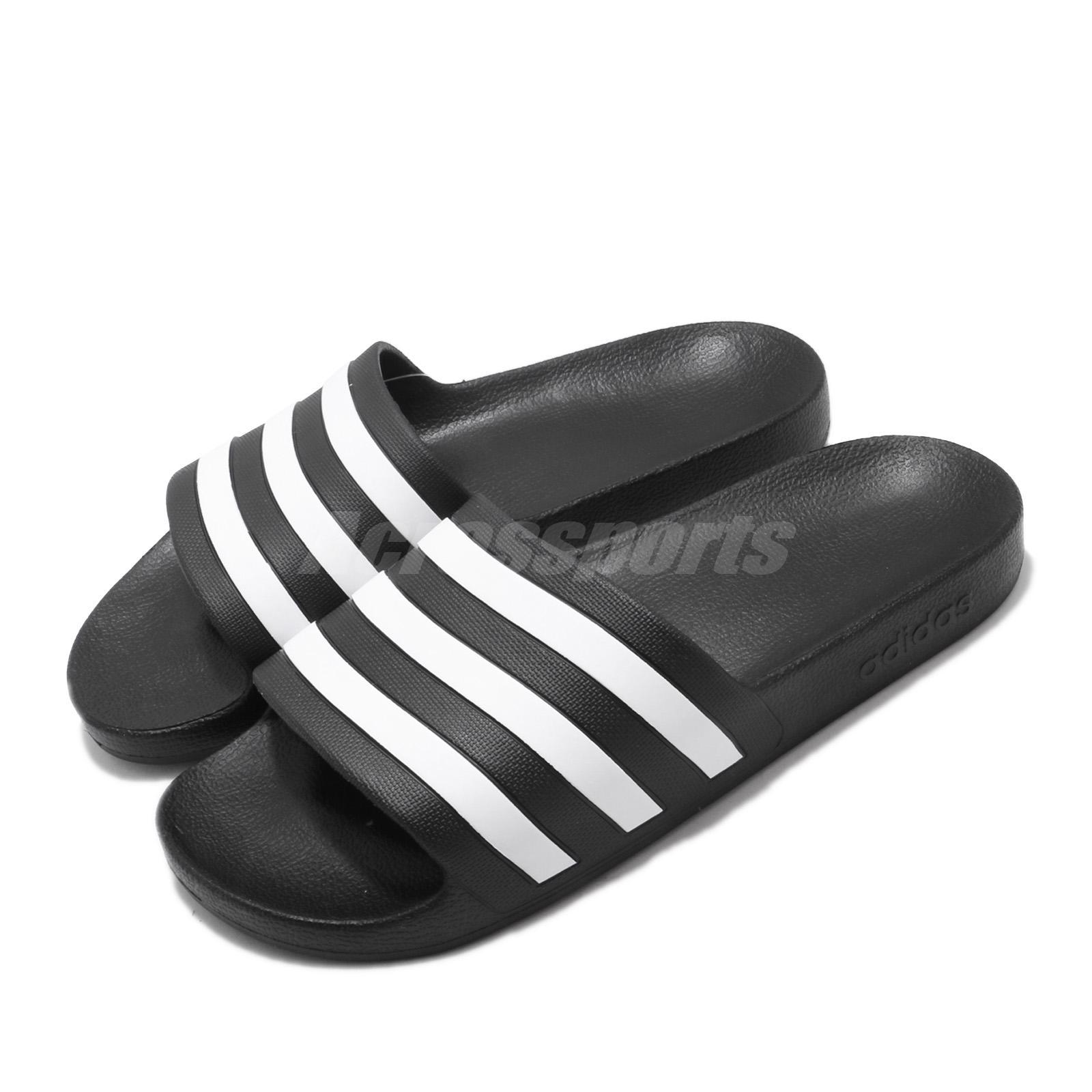 adidas Adilette Aqua Black White Men