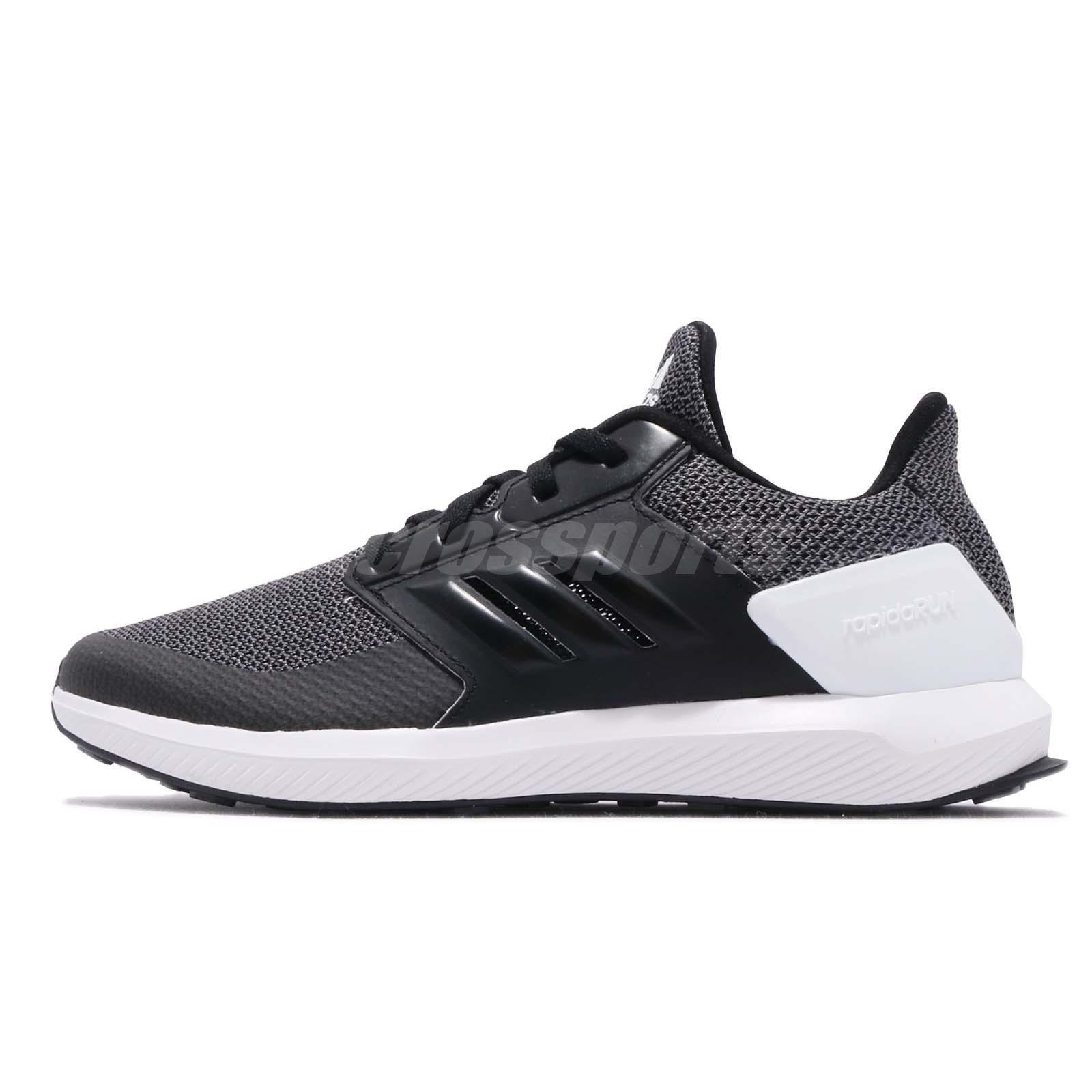 1be5f6ff9 adidas RapidaRun K Black Grey White Kid Preschool Running Shoes Sneakers  F35888