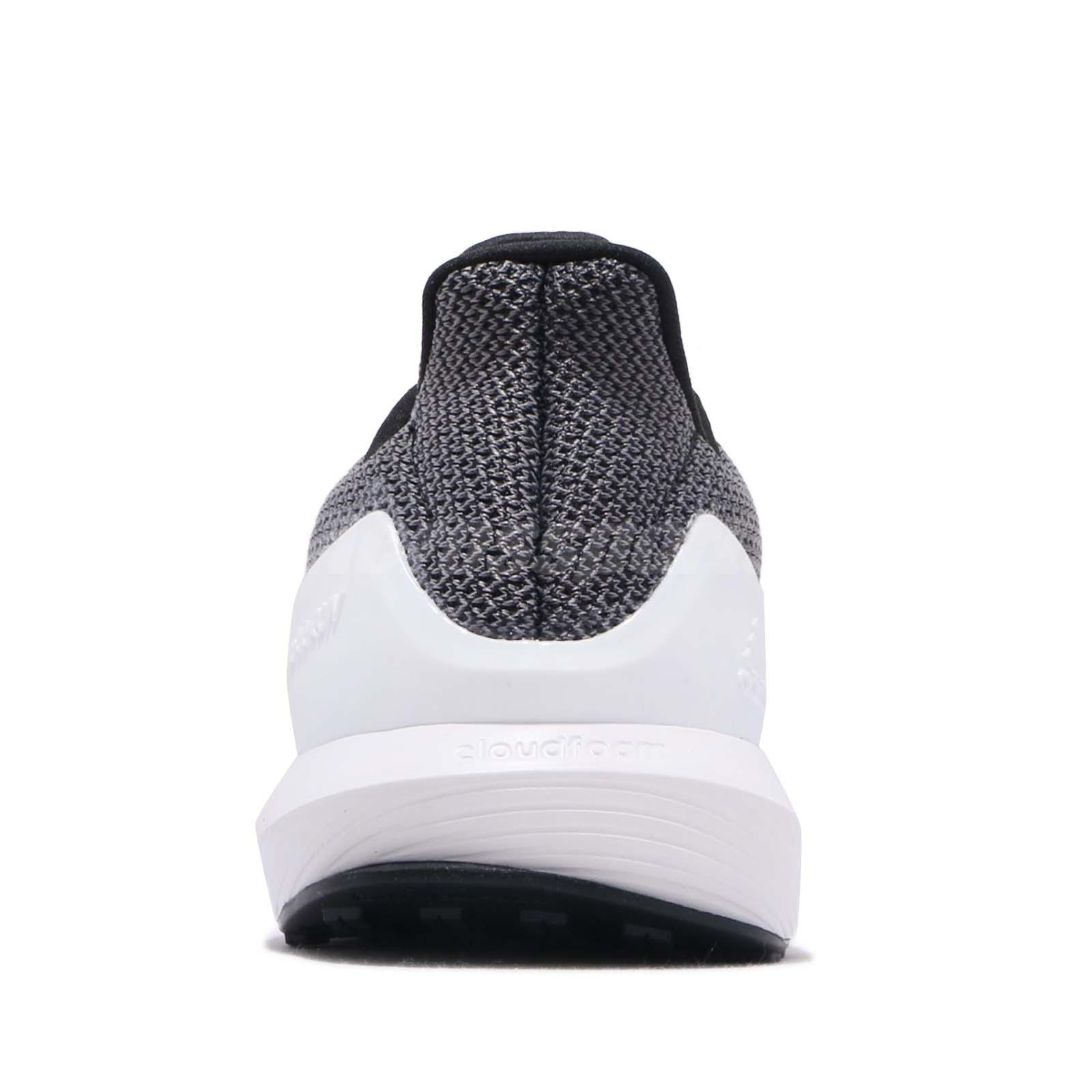 b1563732b adidas RapidaRun K Black Grey White Kid Preschool Running Shoes ...