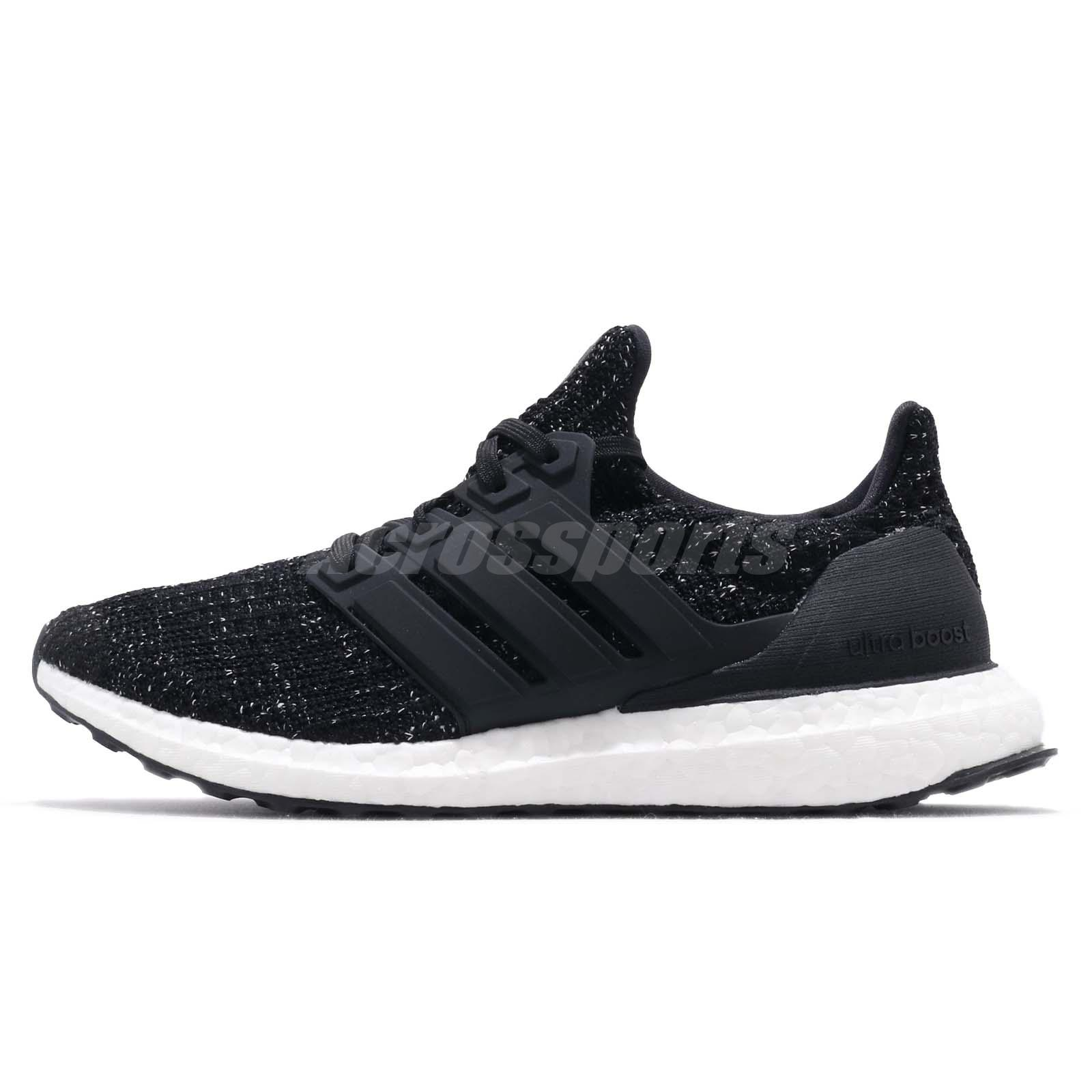 6681b15d89f07 adidas UltraBOOST W 4.0 Black White Women Running Training Shoes Sneakers  F36125