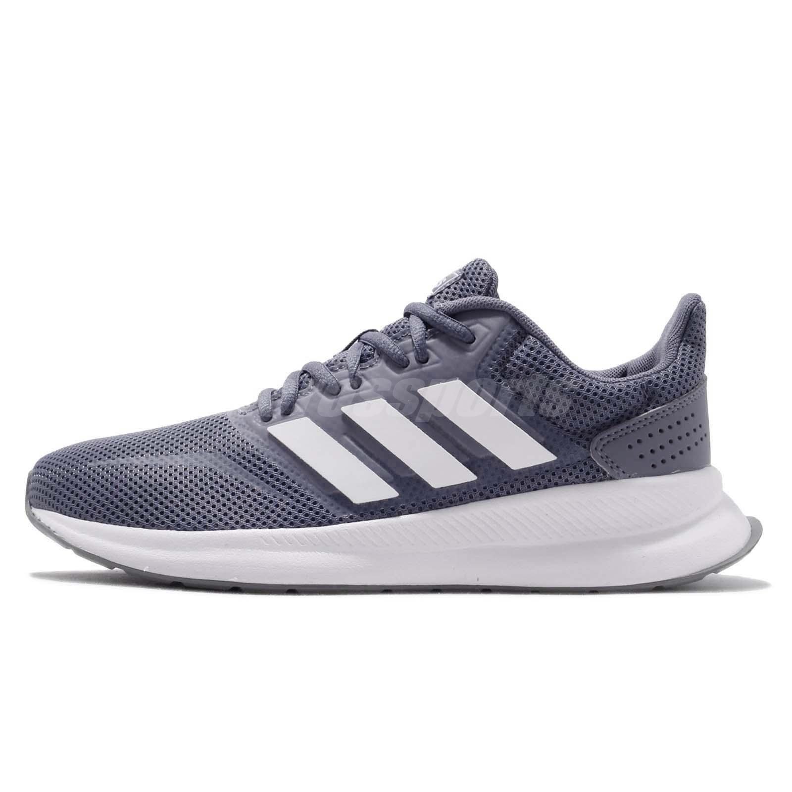 new product c8f9e ddfaa adidas Runfalcon Raw Indigo White Grey Women Running Casual Shoes Sneaker  F36217