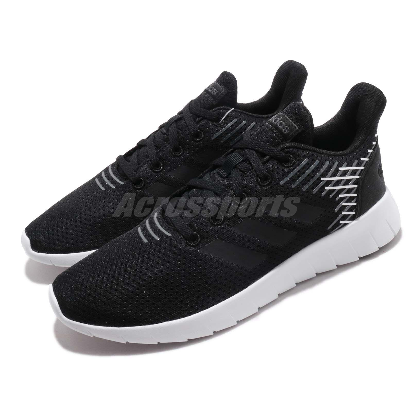 Details about adidas Asweerun Black Grey White Women Running Training Shoes Sneakers F36339