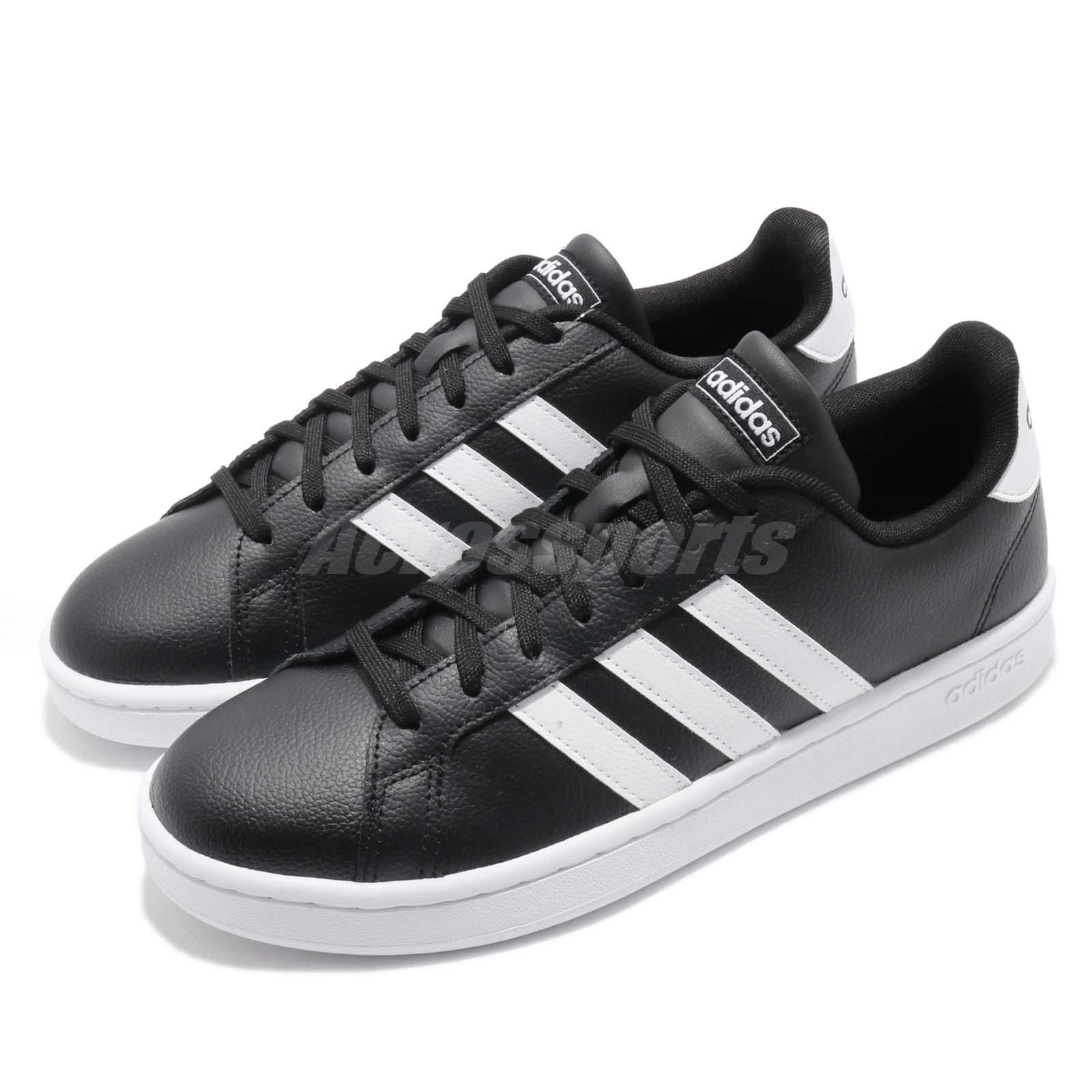 Details about adidas Grand Court Black White Men Classic Casual Lifestyle Shoes Sneaker F36393