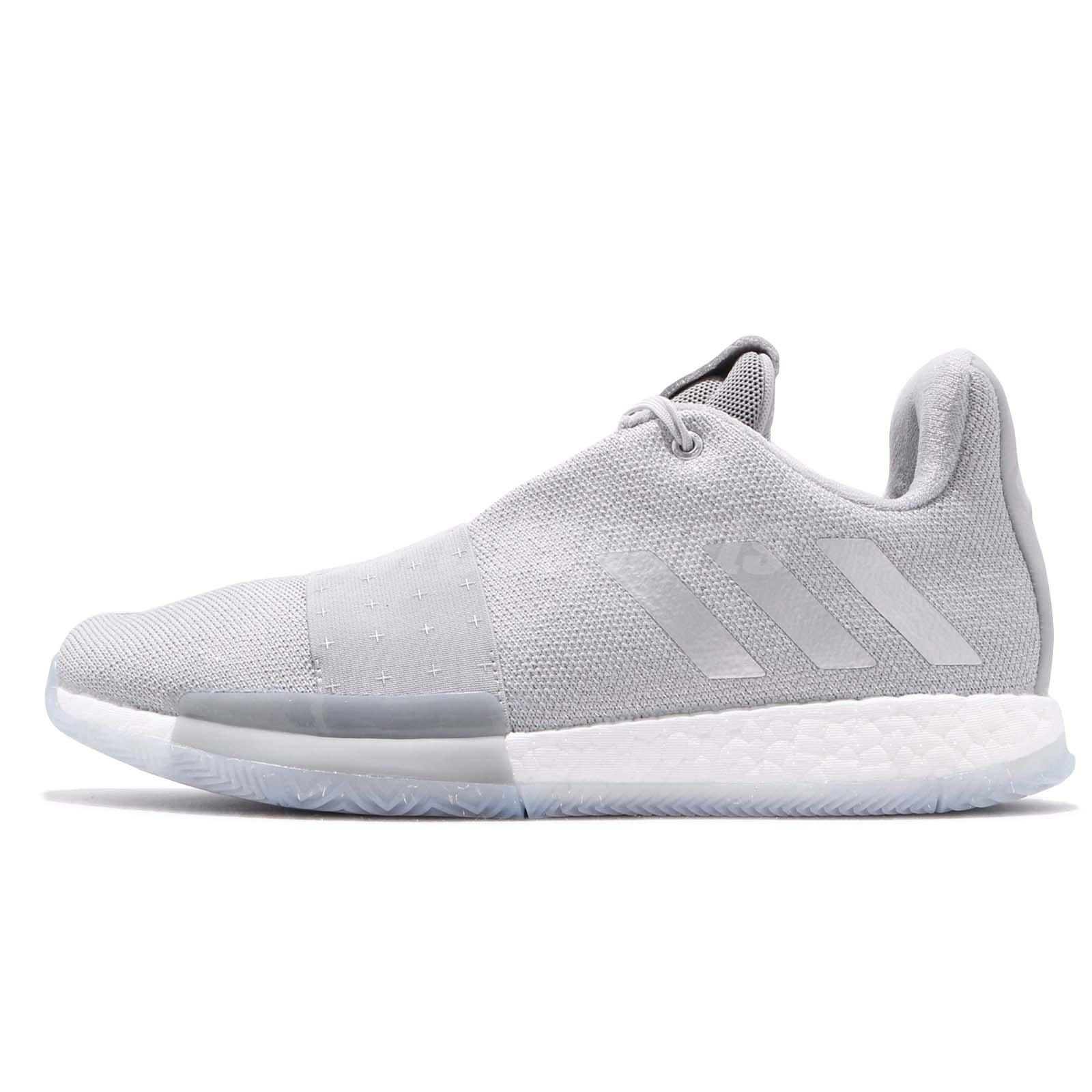 f9db238db776 adidas Harden Vol. 3 Boost James Grey White Men Basketball Shoes Sneakers  F36443