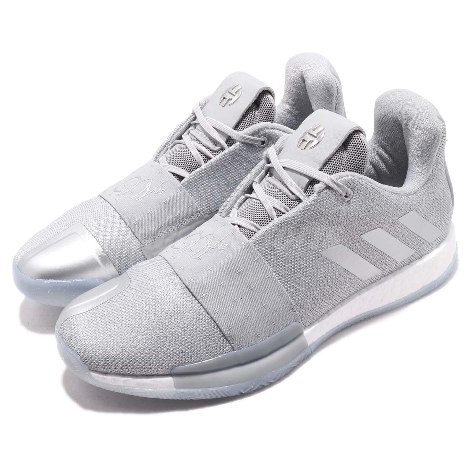 Adidas Harden Vol 3 Boost James Grey White Men Basketball Shoes