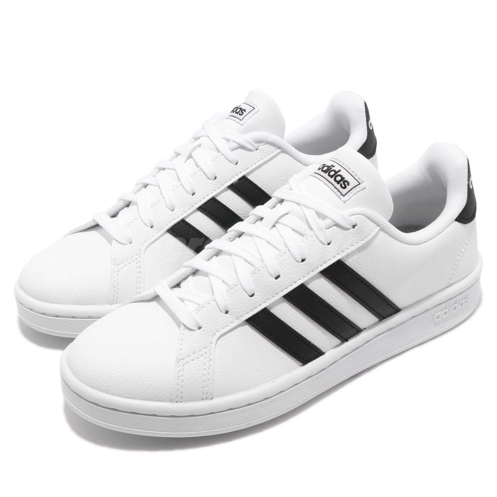 c825a6ab97 Details about adidas Grand Court White Black Women Classic Casual Shoes  Sneakers F36483