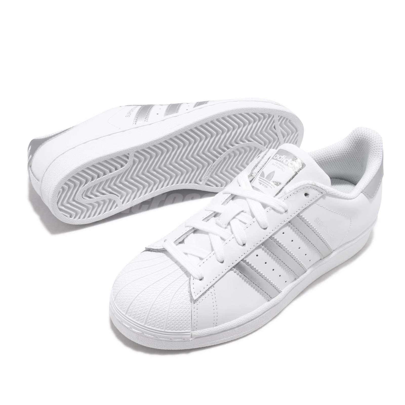 Details about adidas Originals Superstar FD White Silver Men Women Casual  Shoes Sneaker F36581 229eacf67